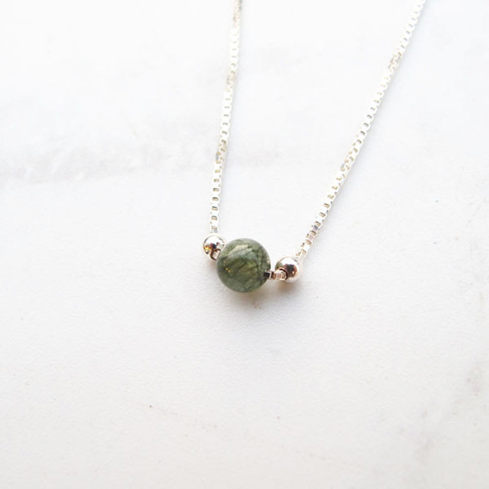 大員囡仔【手工銀飾】 天然石系列  純銀項鍊/鎖骨鍊