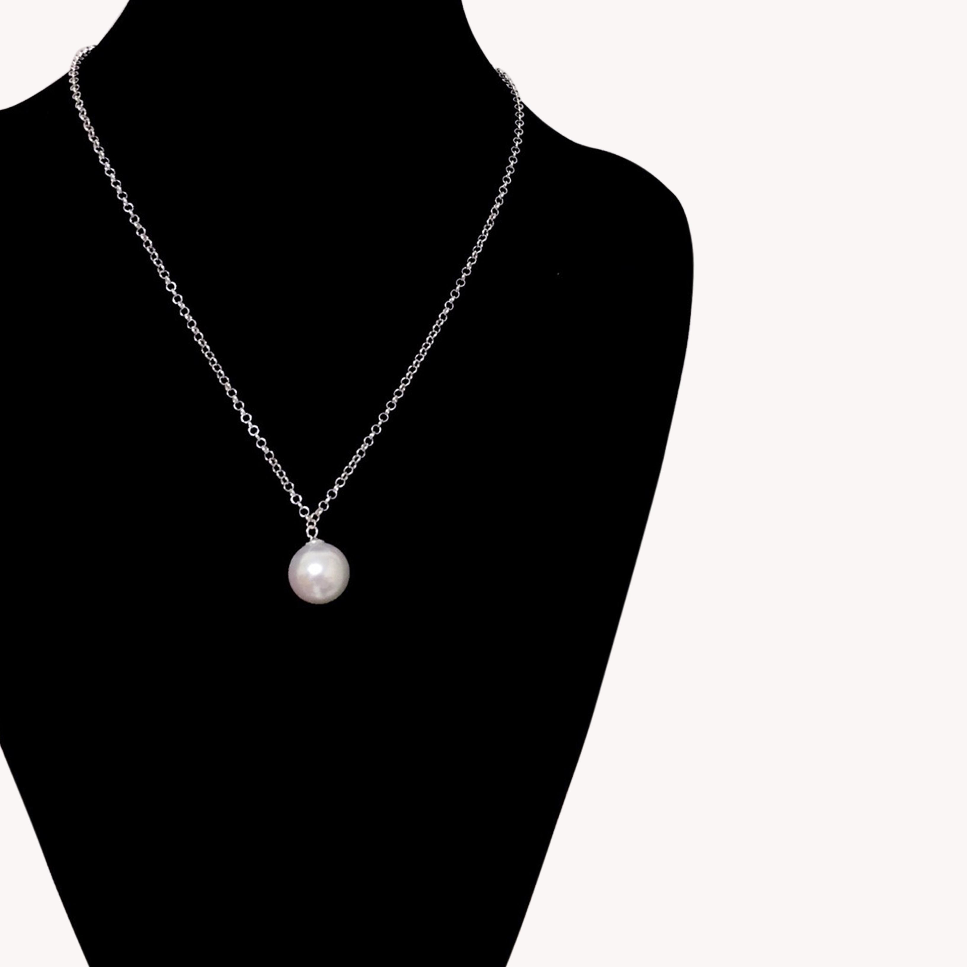 單顆珍珠項鍊