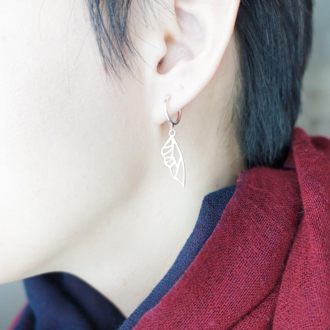 鏤空蝴蝶翅膀 純銀耳環