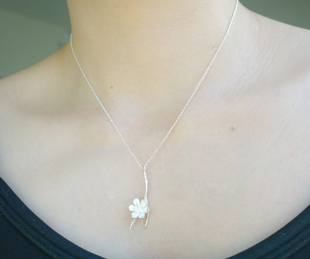 花朵在樹梢 純銀項鍊