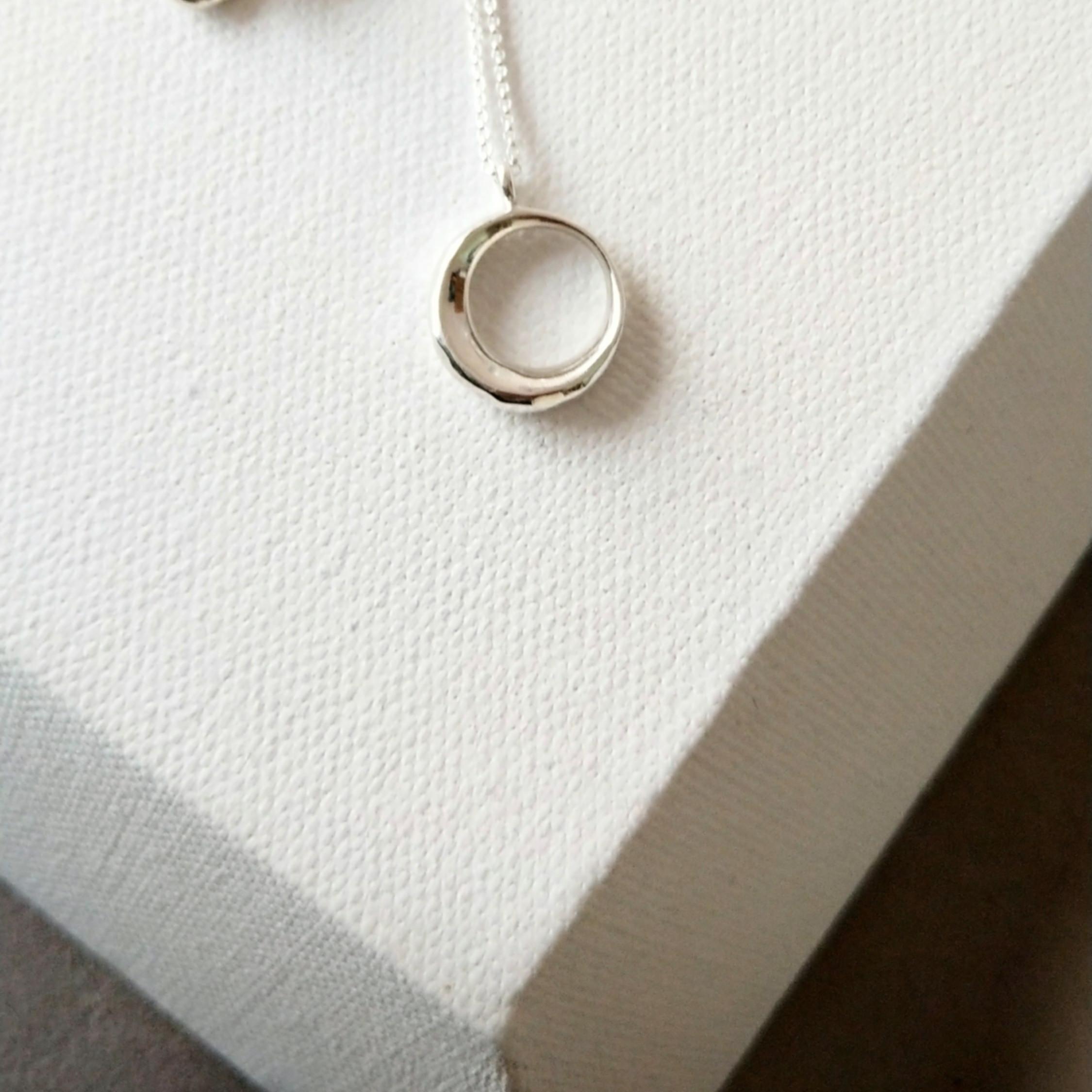 明月光 純銀項鍊 無珍珠款