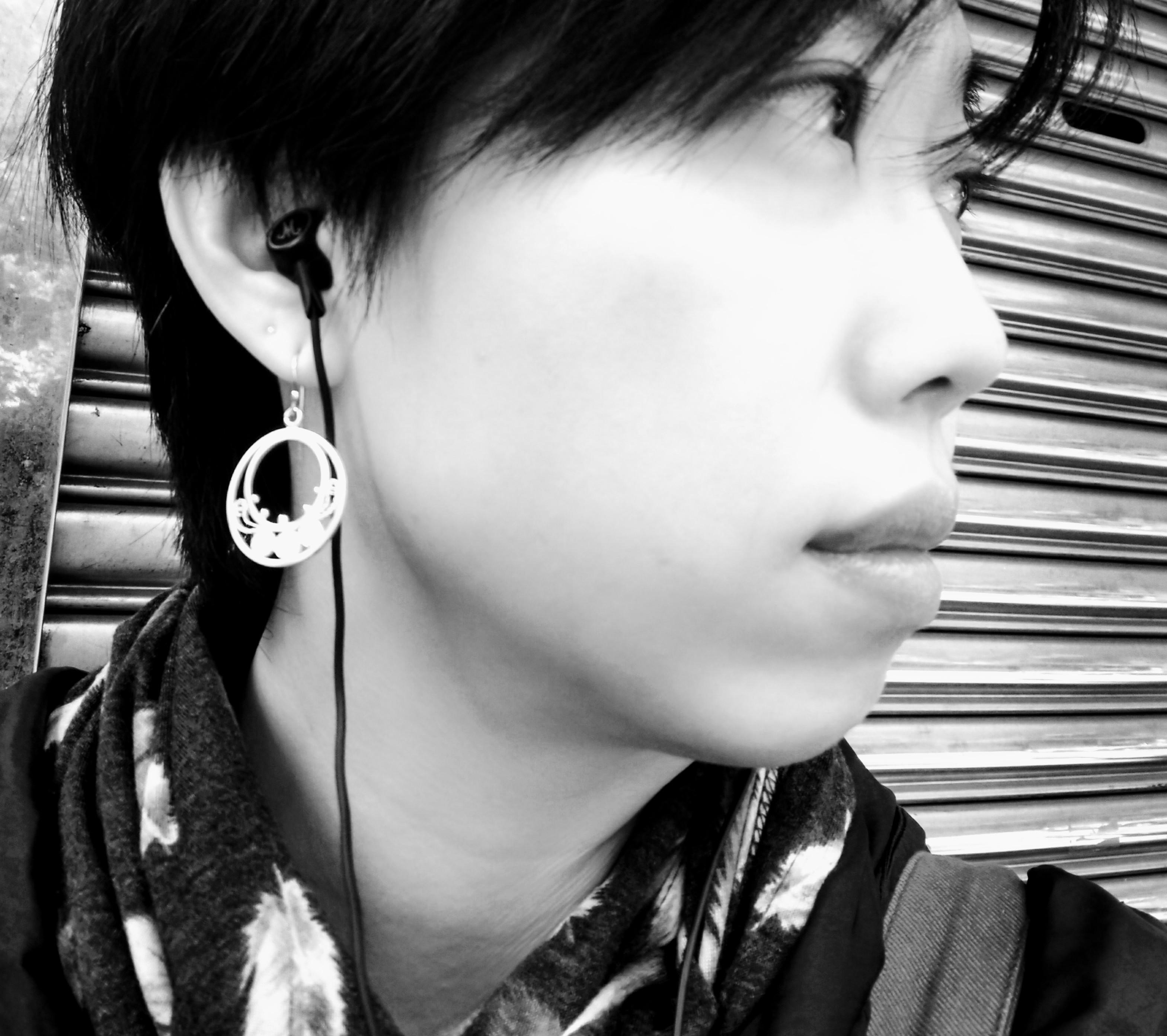 纍絲 Filigree 掐絲純銀手工耳環 一對