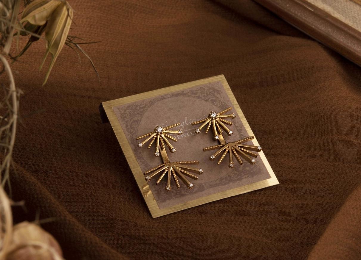 小煙花兩戴式耳環