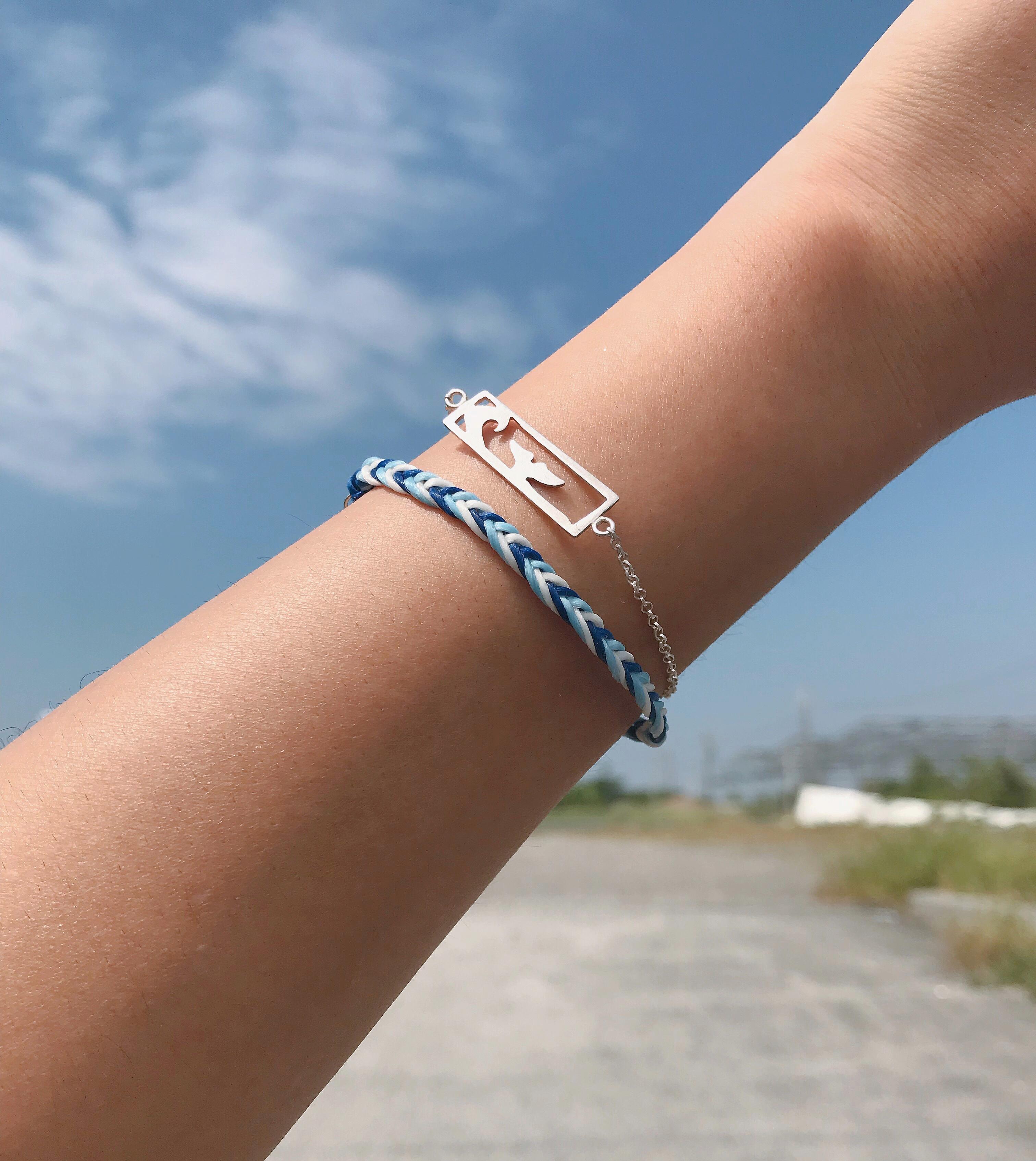純銀手鍊 - 海洋風景