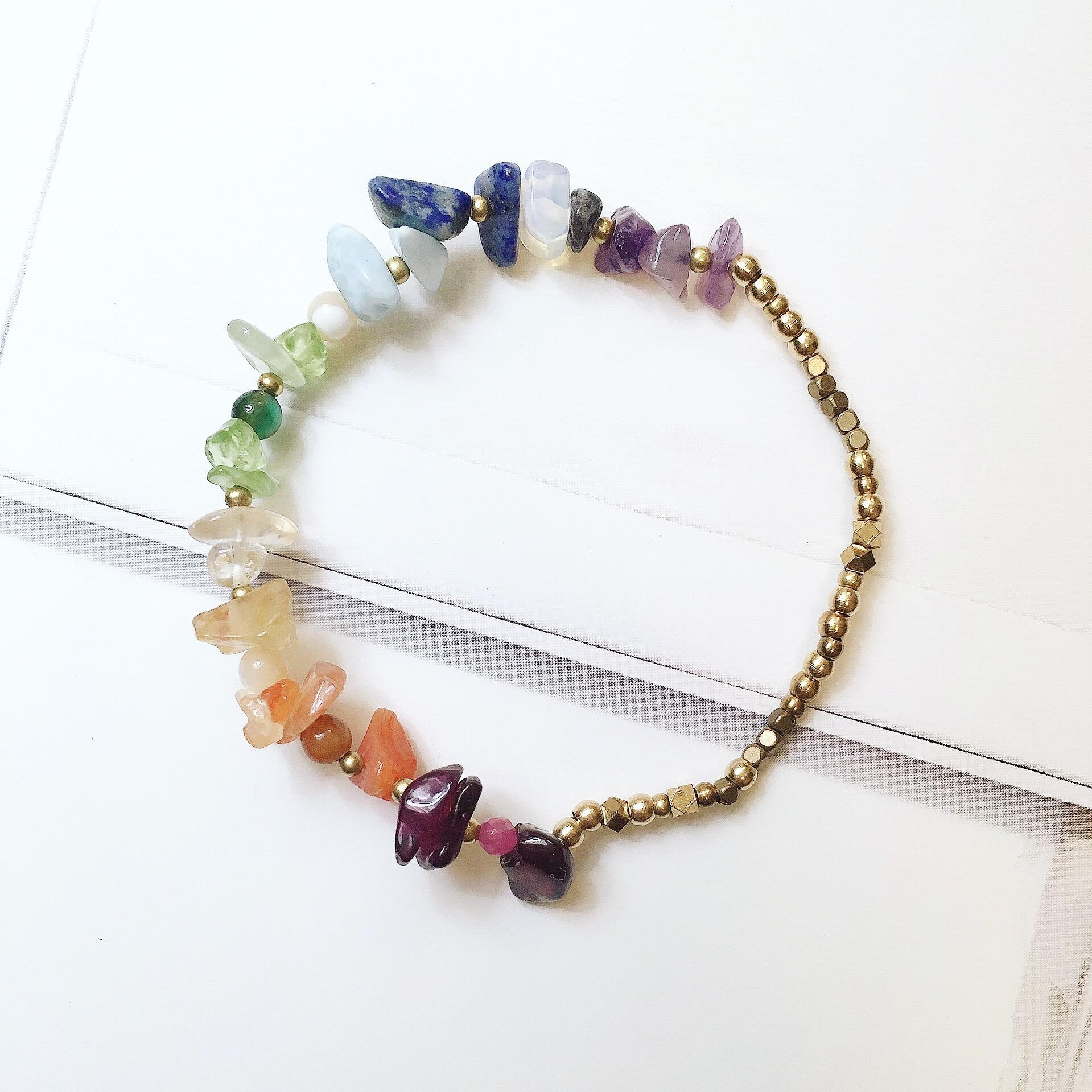 復古彩虹手環 - 混色黃銅