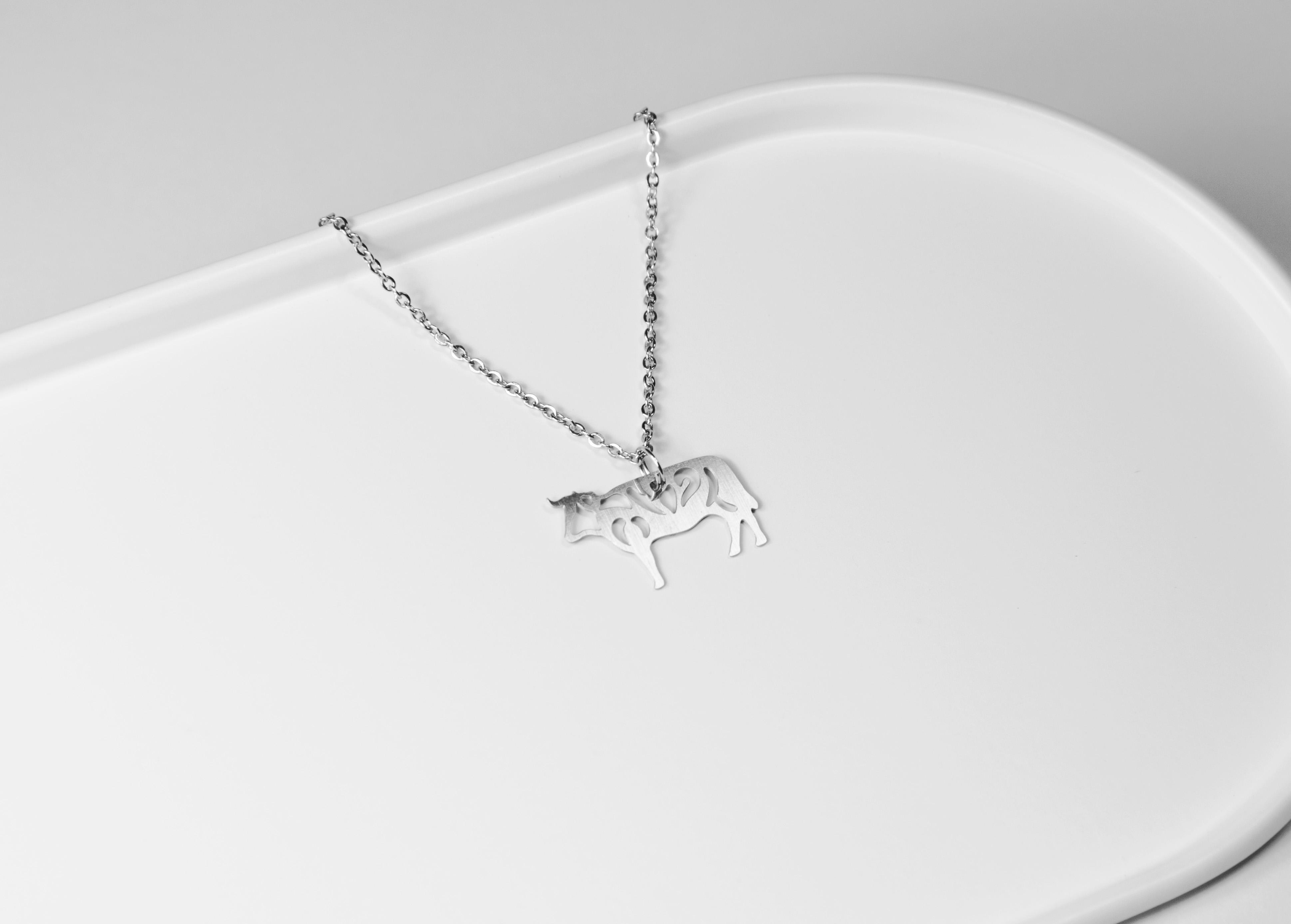 十二生肖─牛 (款式一) 項鍊【迷你款】_動物系列_造題