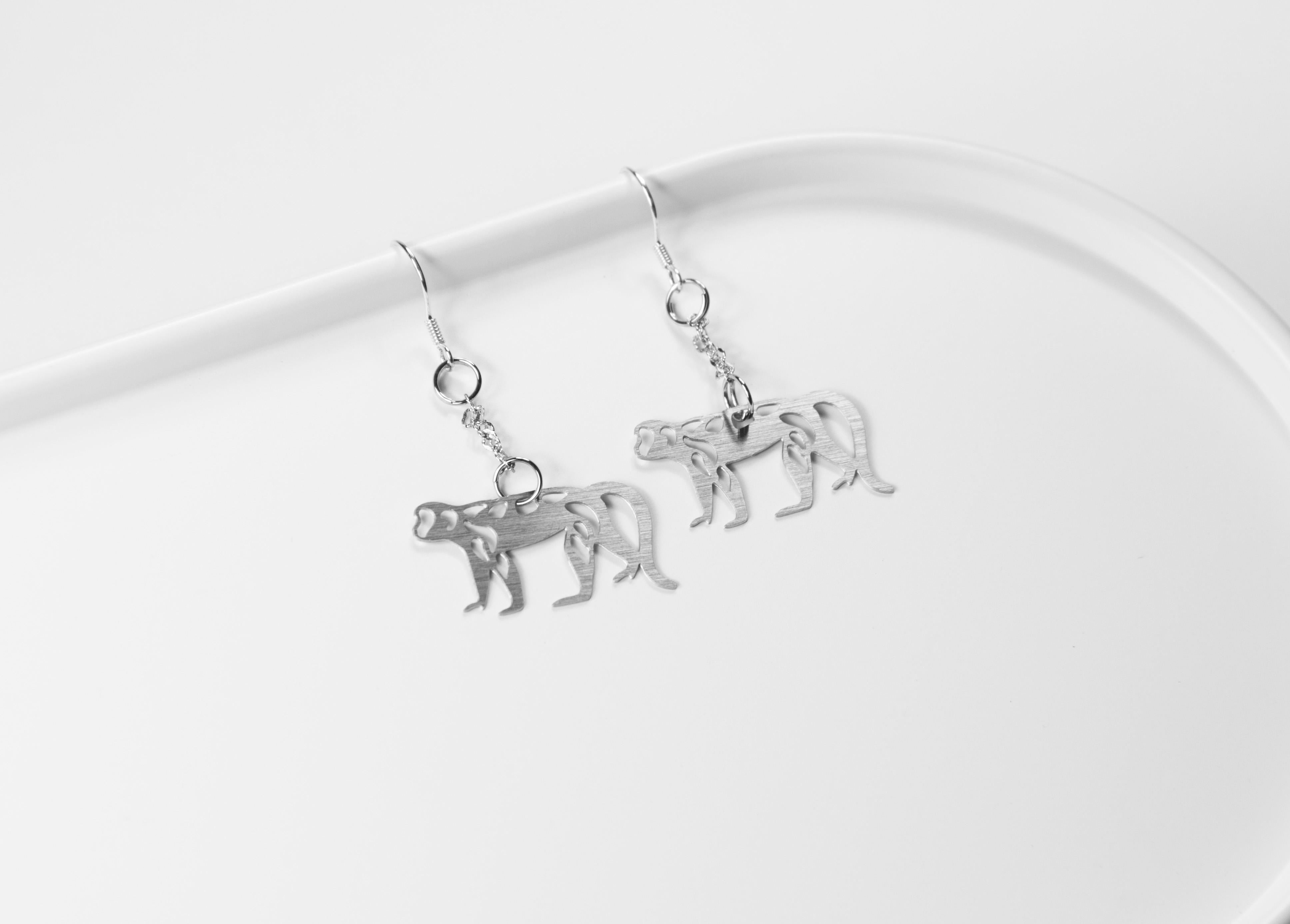 十二生肖─猴 耳環【迷你款】_動物系列_造題