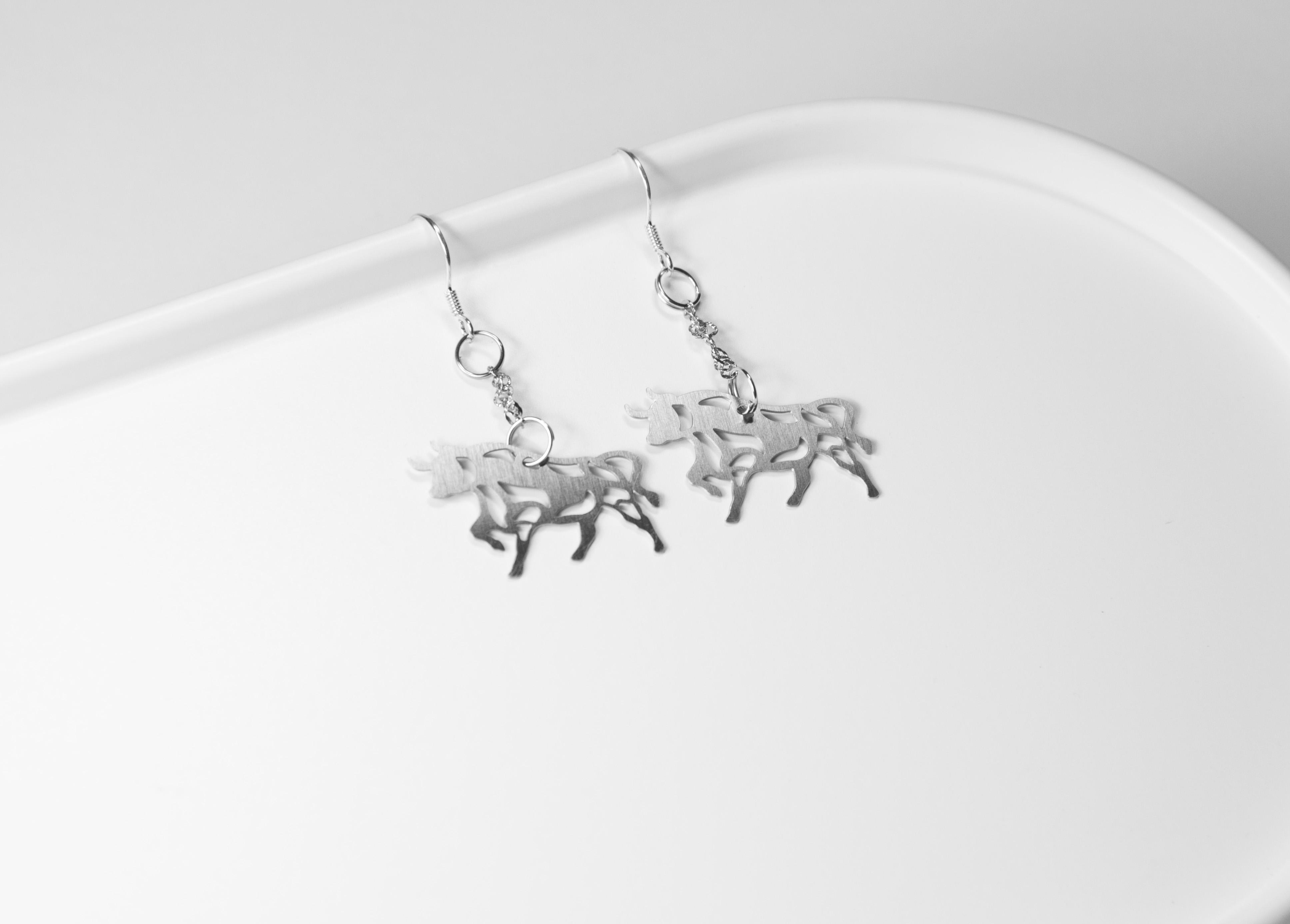 十二生肖─牛 (款式二) 耳環【迷你款】_動物系列_造題