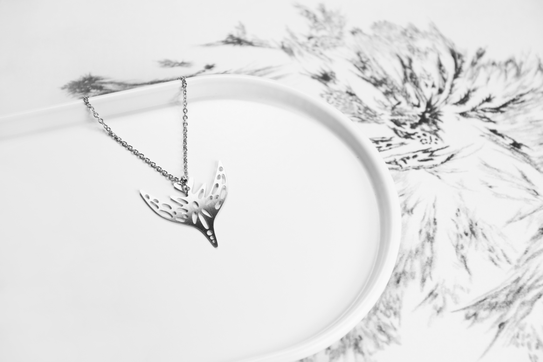 飛鳥項鍊─藝術家 fancewu_art 聯名飾品【被遺忘的想像 X 造題設計_藝術聯名系列】