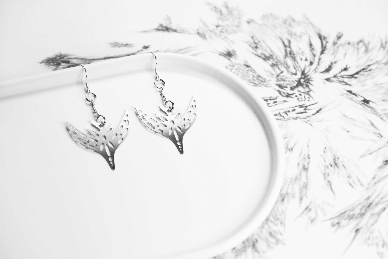 飛鳥耳環─藝術家 fancewu_art 聯名飾品【被遺忘的想像 X 造題設計_藝術聯名系列】