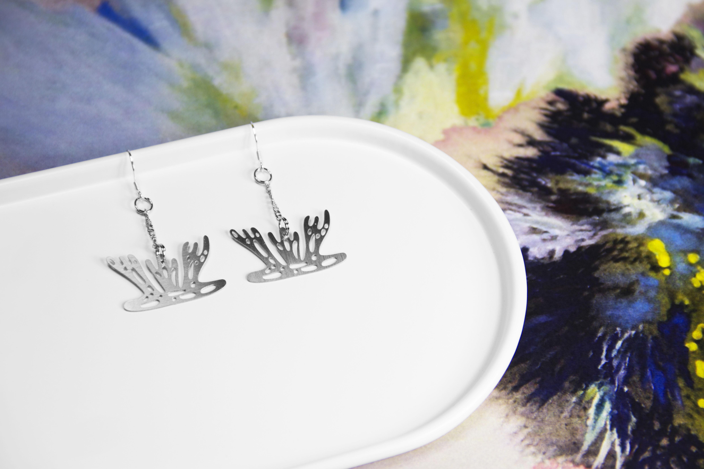 海葵耳環─藝術家 fancewu_art 聯名飾品【被遺忘的想像 X 造題設計_藝術聯名系列】