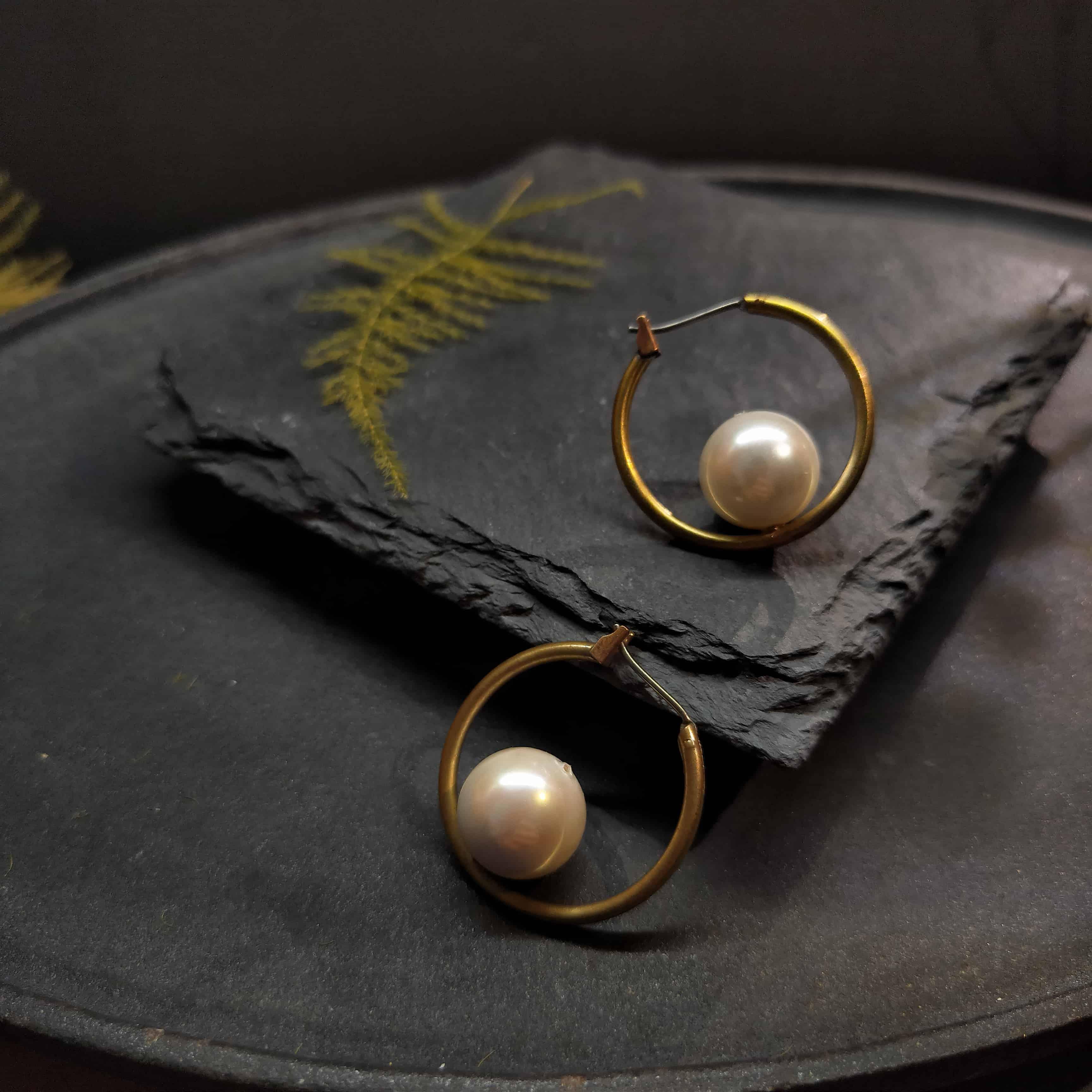 礦石耳環-簡約款-小礦母
