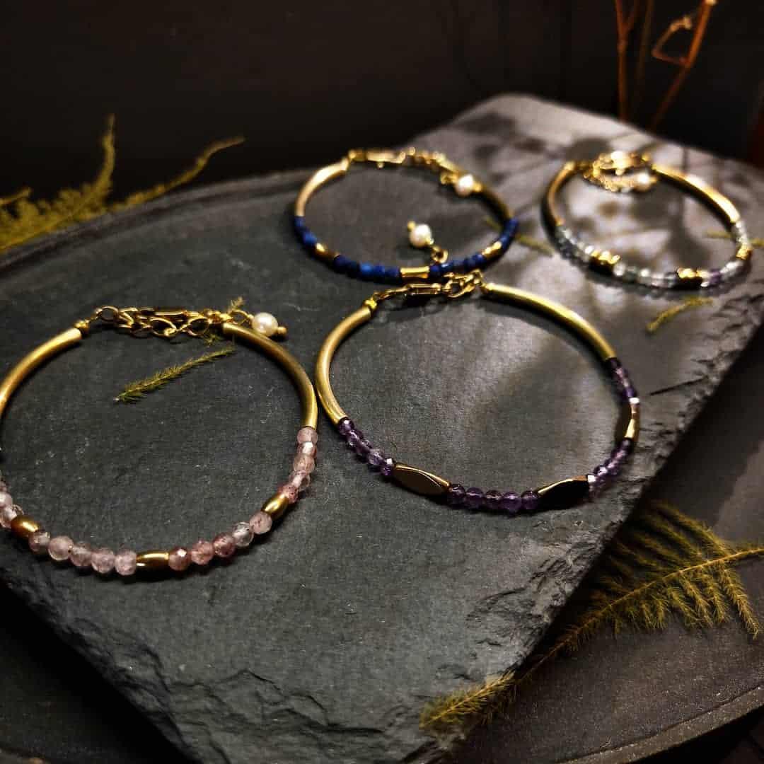 輕珠寶半寶石手鍊-百搭款-四季