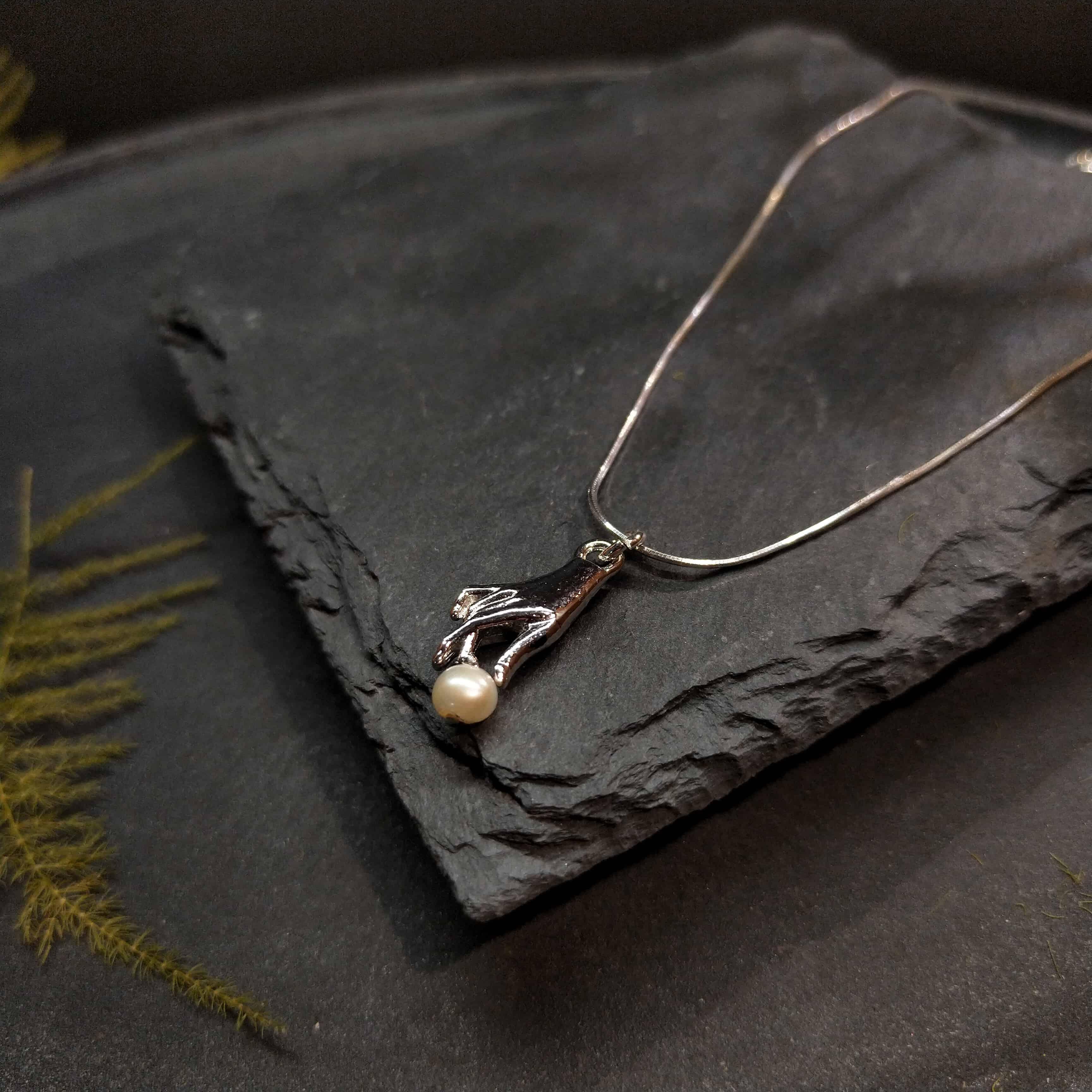 珍珠項鍊-設計款-拾起你的淚珠