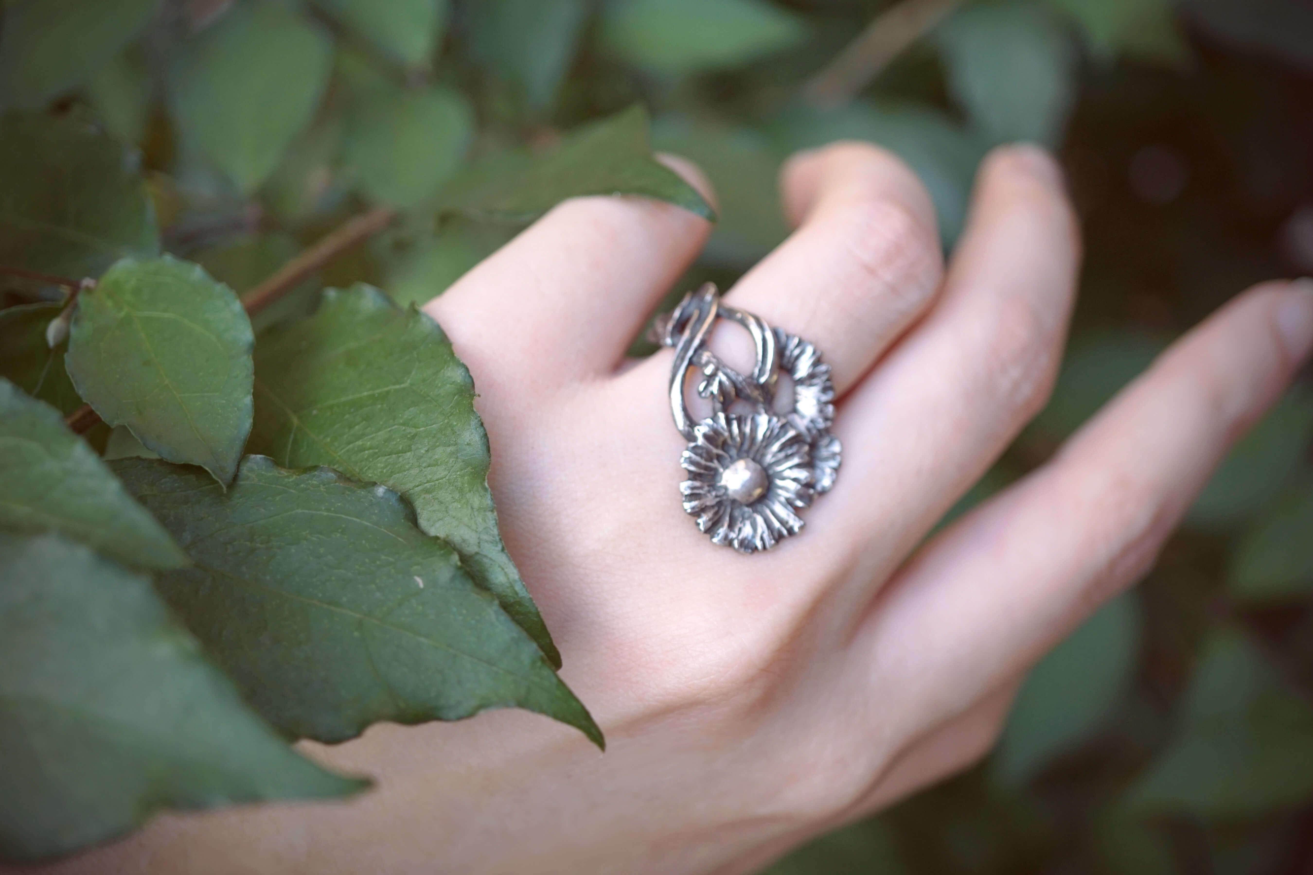 小花園系列-小雛菊銀戒