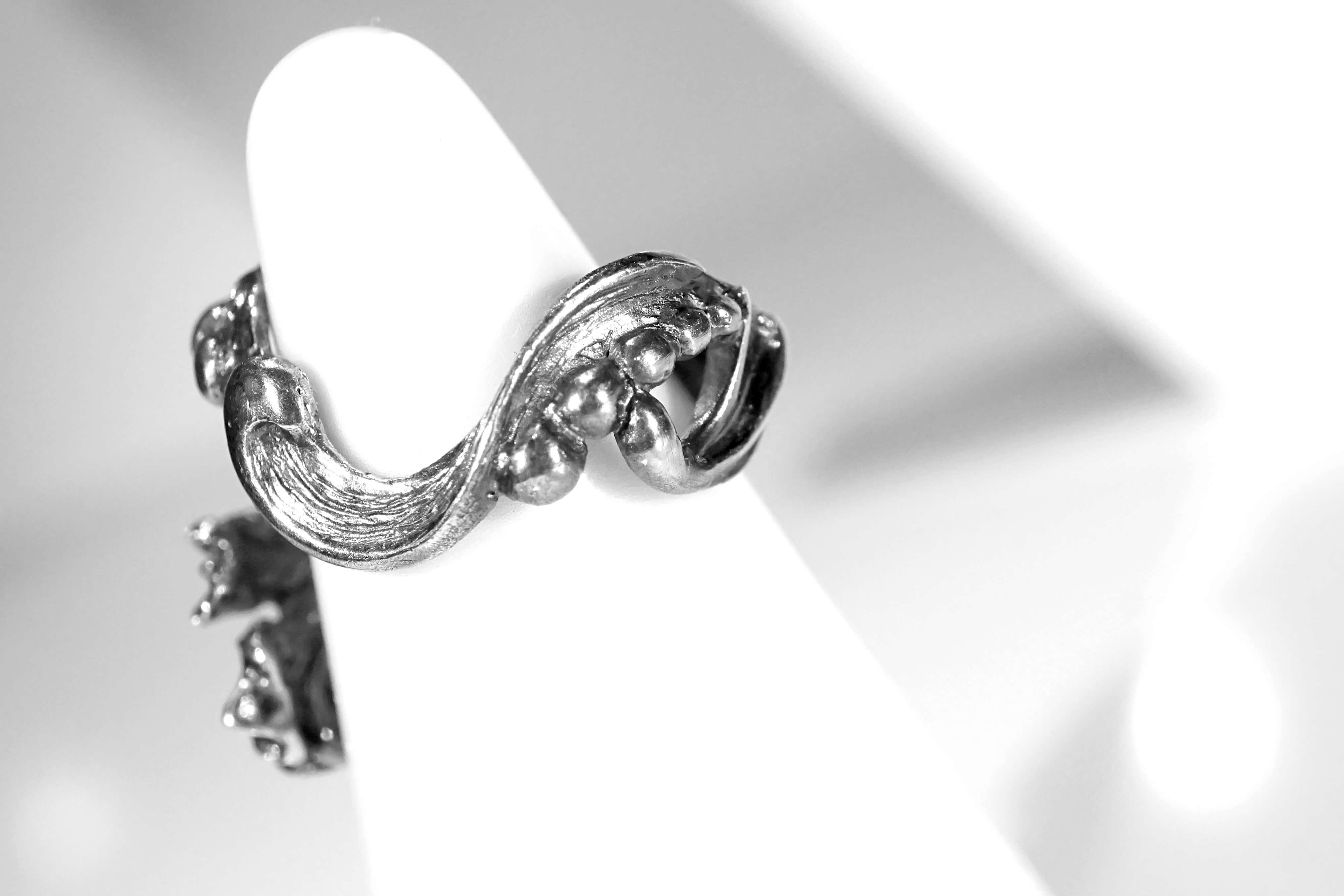 小花園系列-鳶尾花銀戒指