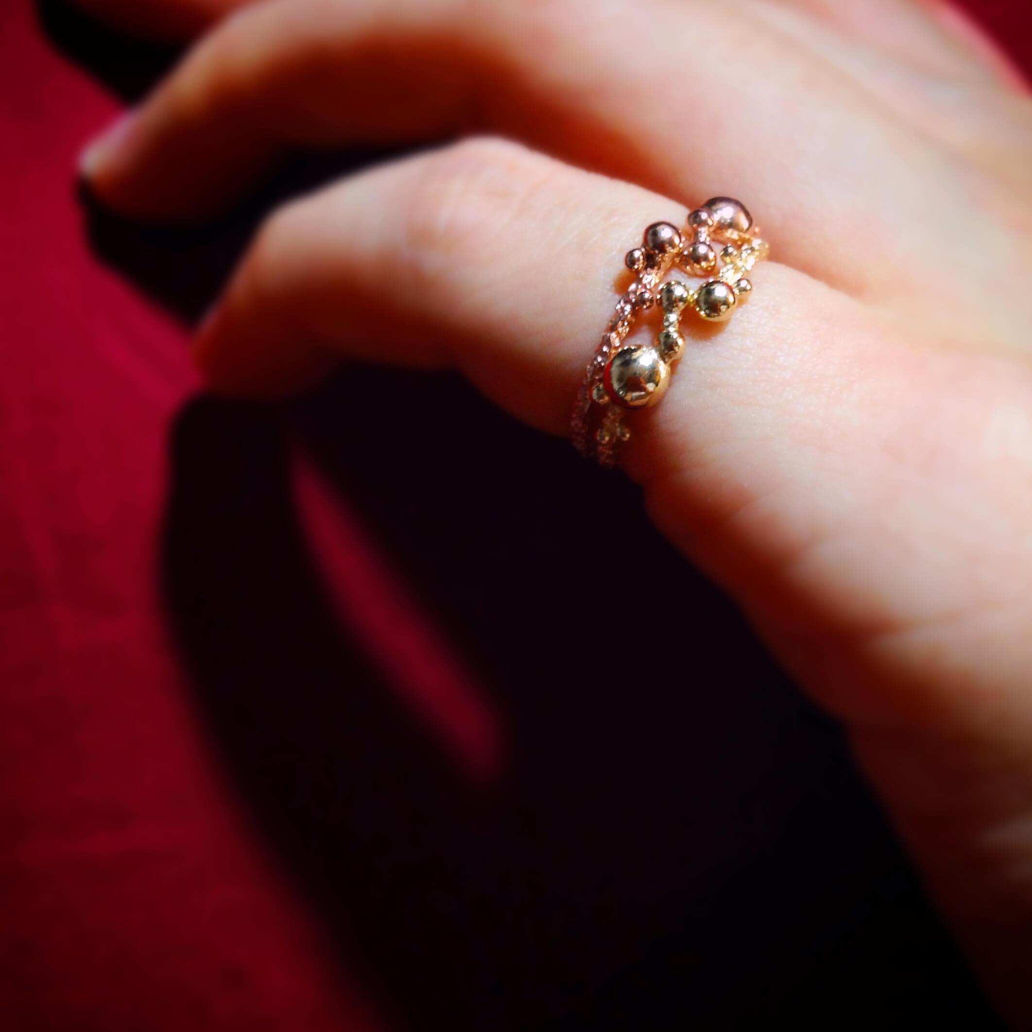 海洋系列-泡泡玫瑰金戒指