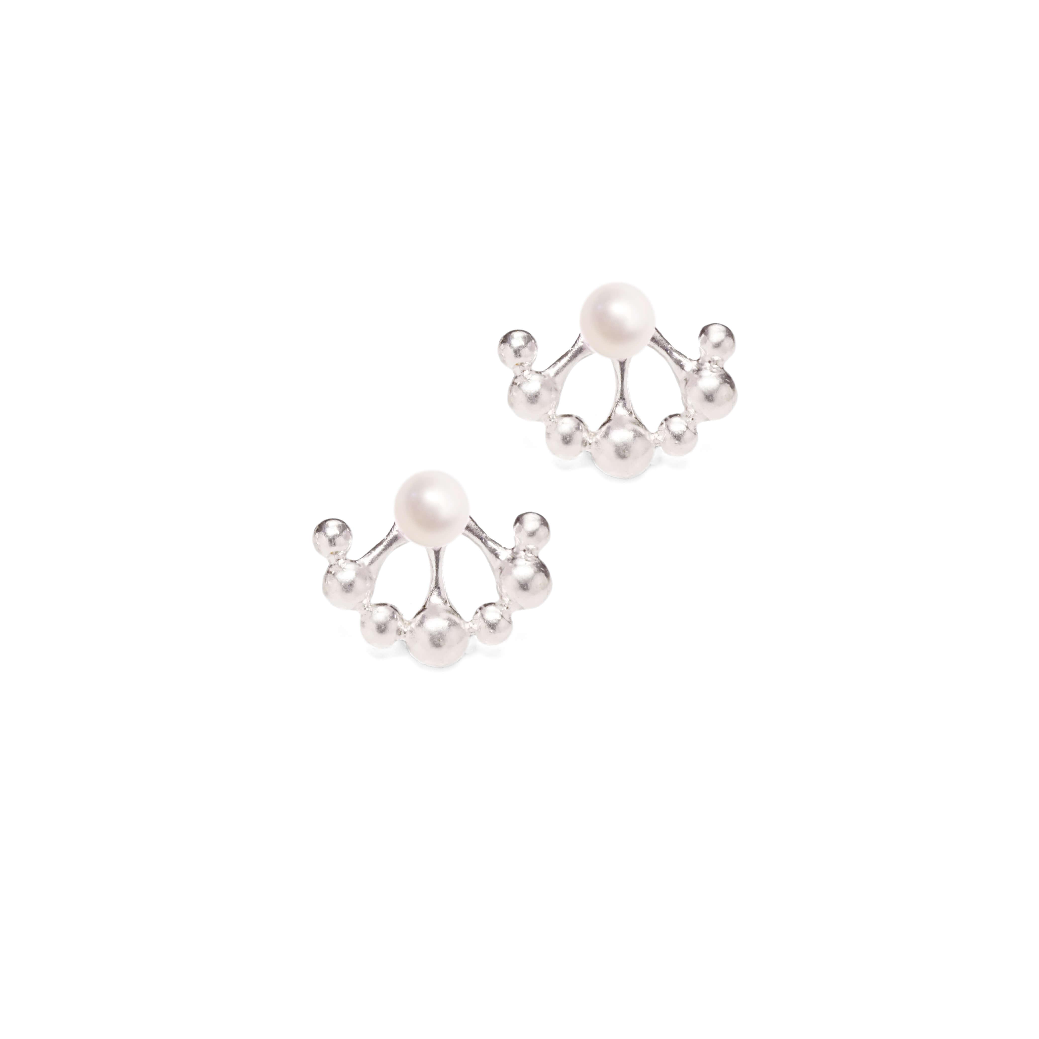 小花園系列-蒲公英耳環(淡水珍珠)