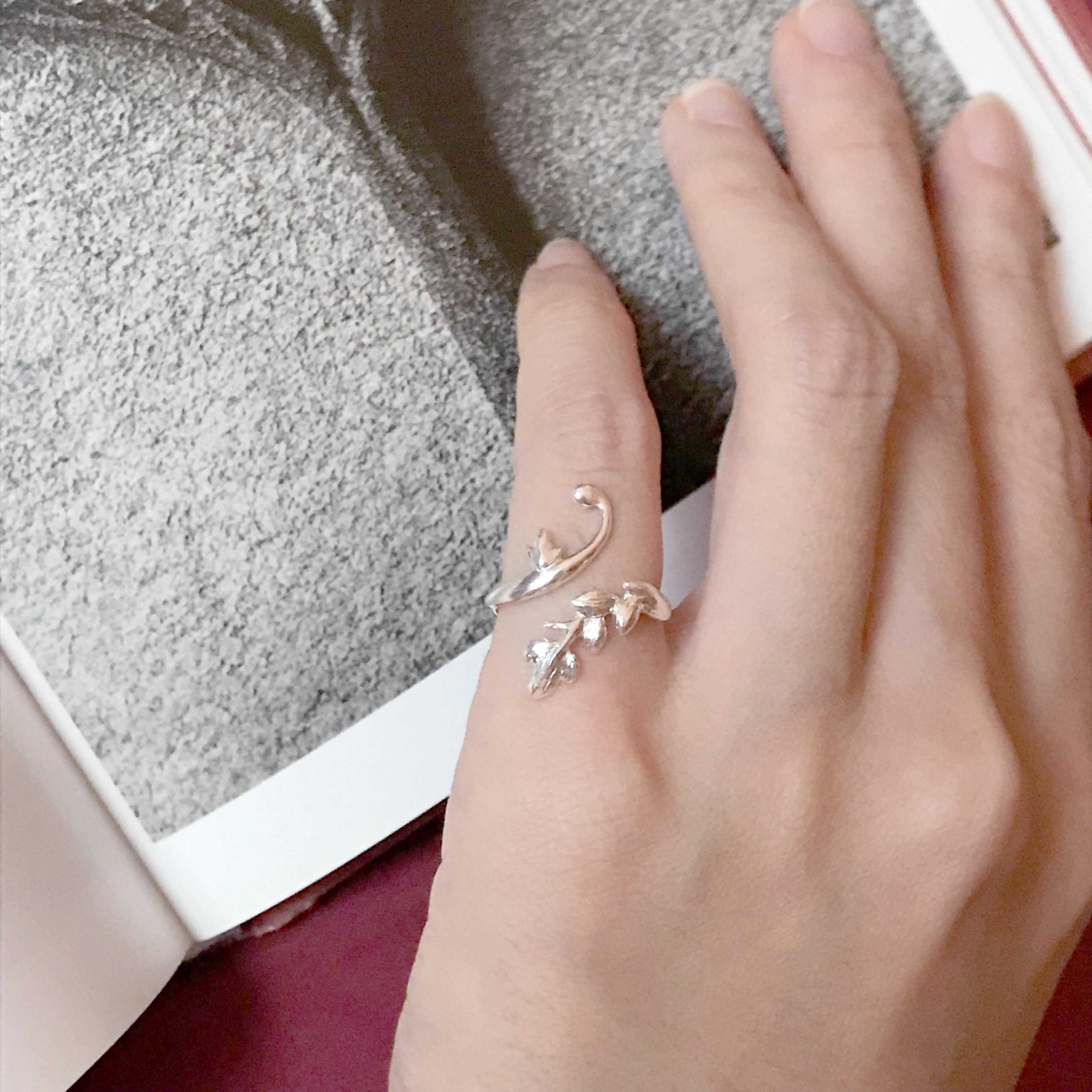 小花園系列-長春藤銀戒指