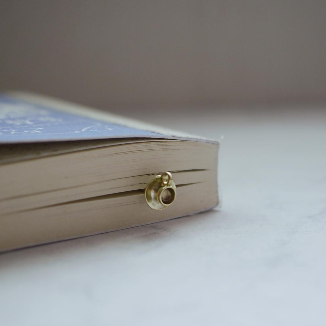 書房系─咖啡杯書籤- 黃銅復古迴紋針書籤
