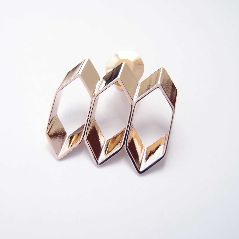 蜂巢形  金屬胸針