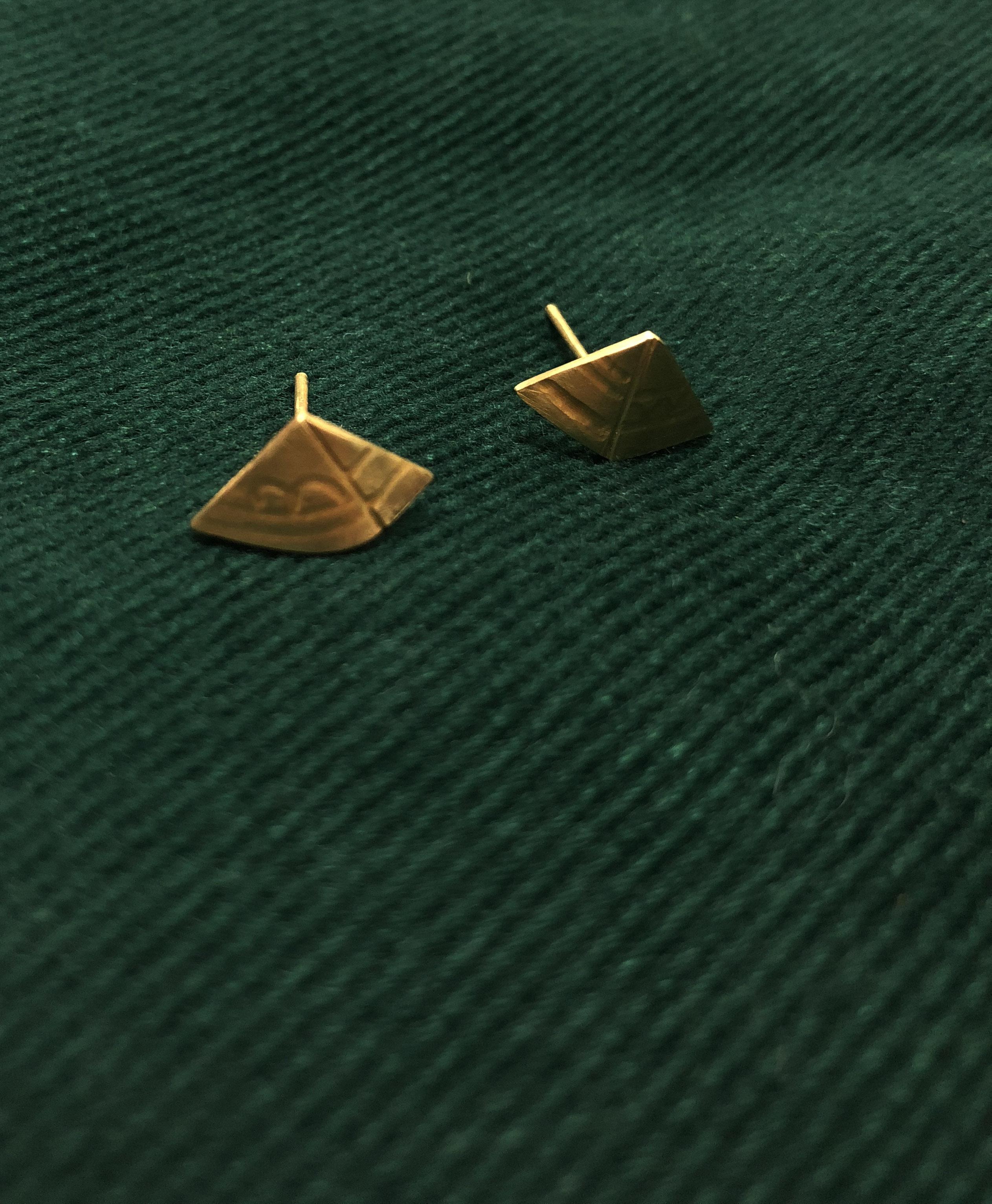 埃及系列之五 金字塔耳環