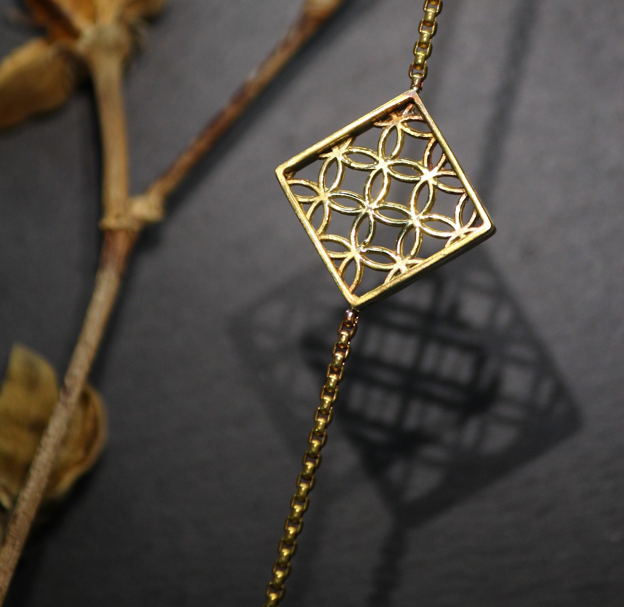 黃銅窗花手鏈-你的老靈魂/方框