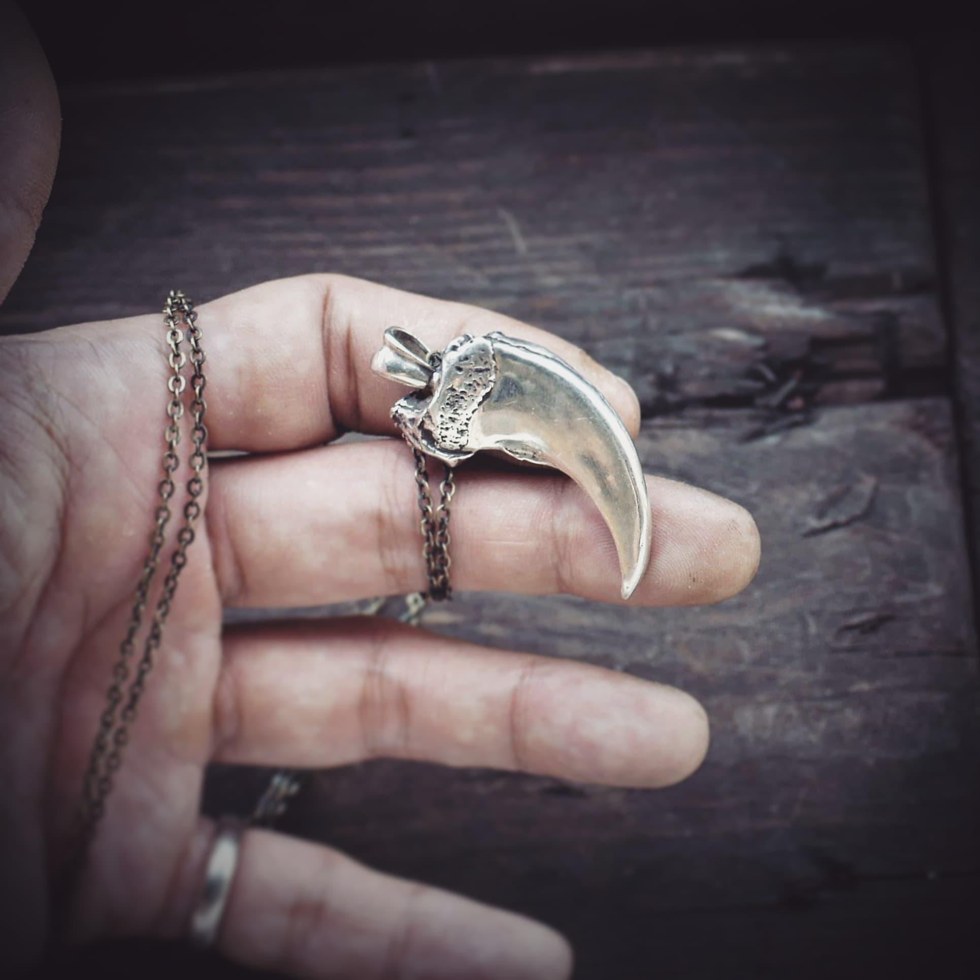 熊爪 925銀單墜 bear claw silver pendant