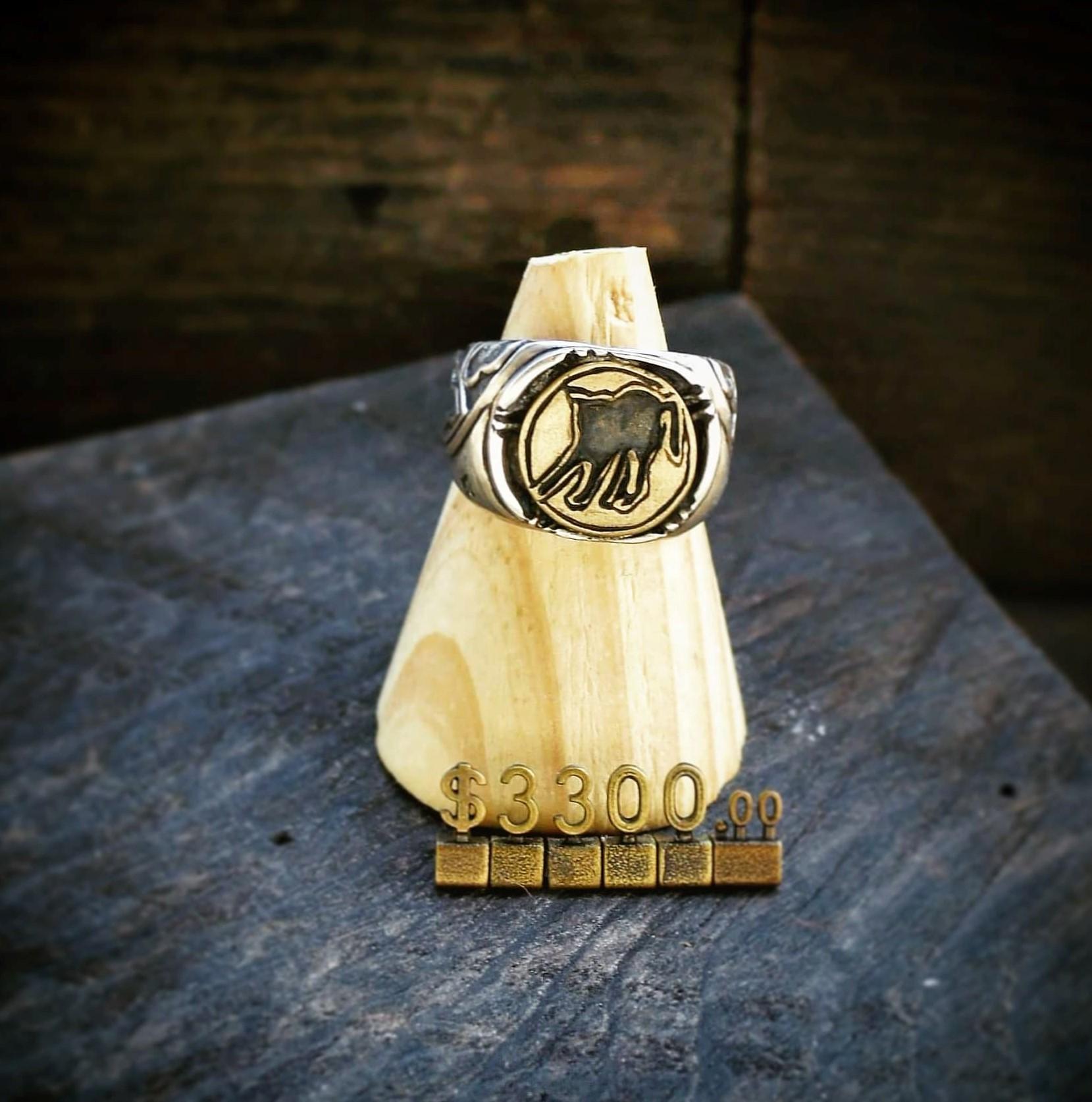 哥德式建築上的貓影 925銀戒