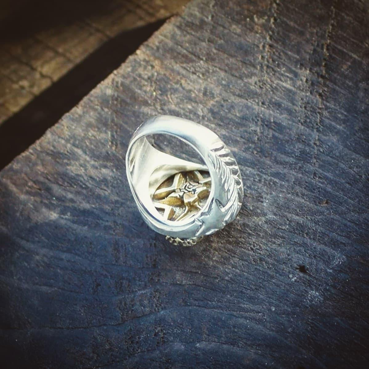 Wild.D 三週年版 黃銅骷髏 925銀戒