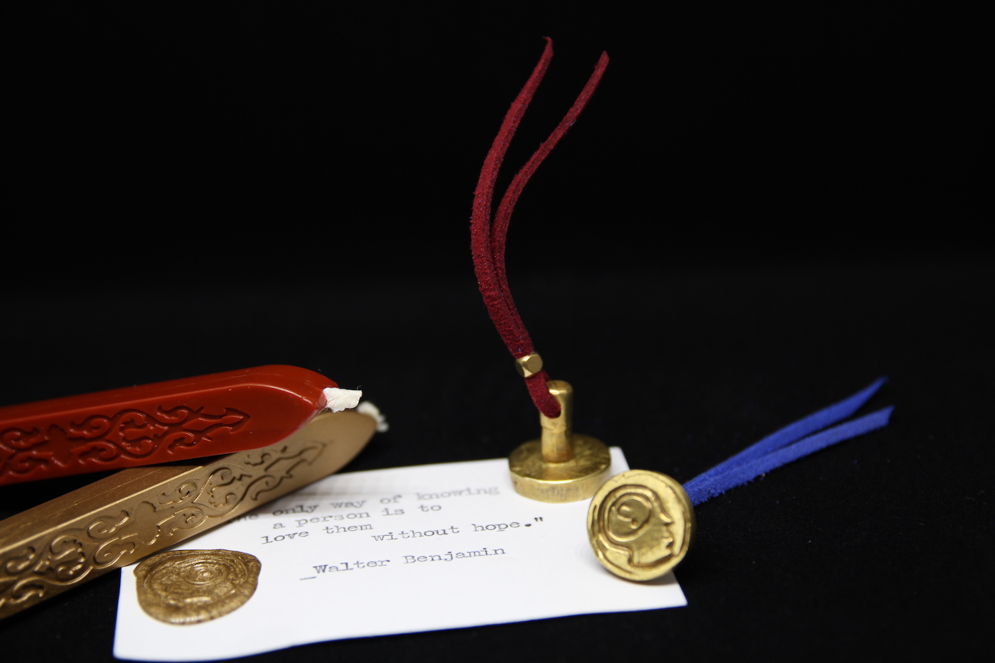 ::思考者x發明家::手工黃銅封蠟章(一對) /封蠟禮盒