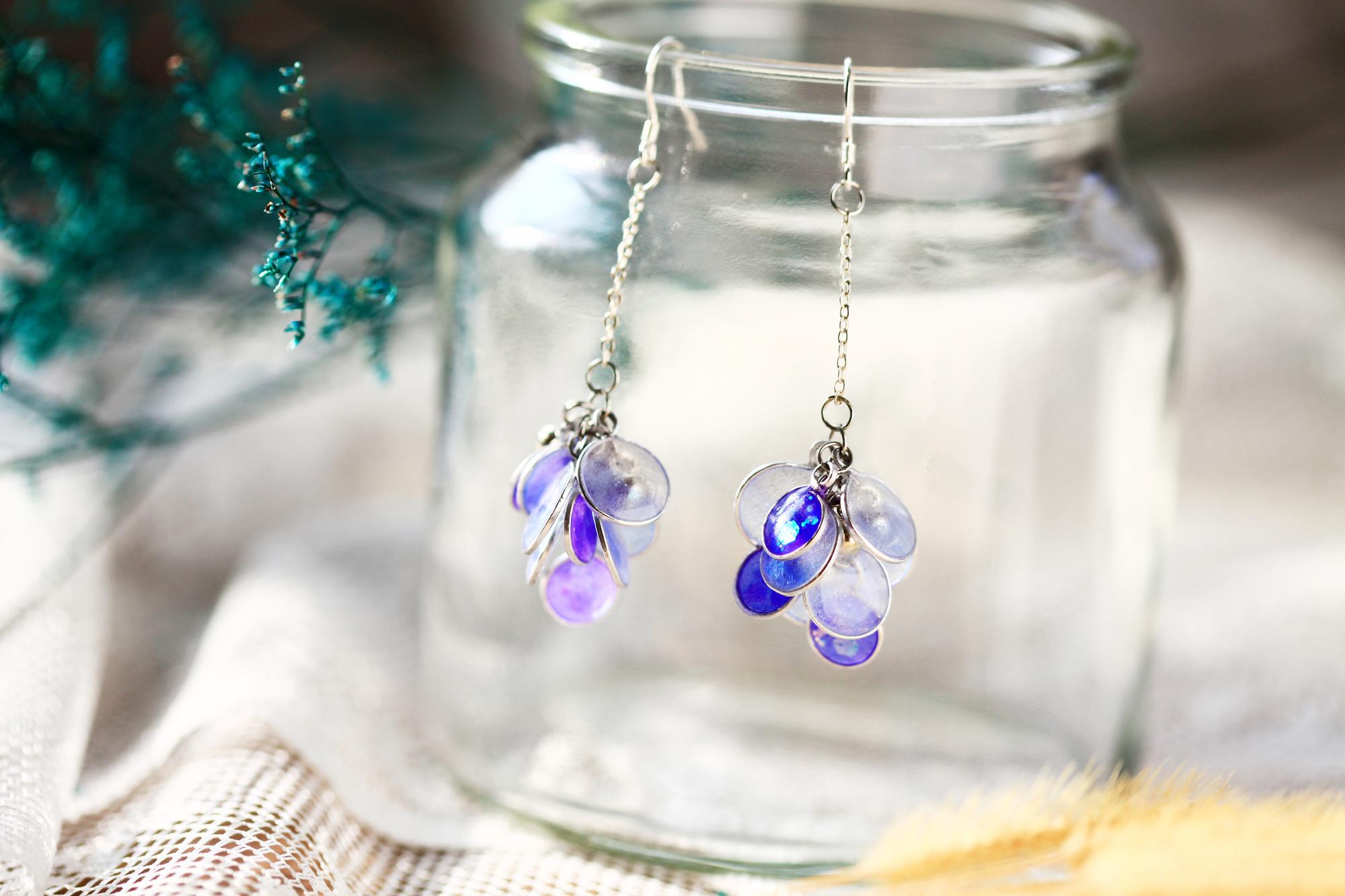 花兒飛飛-漸層紫(耳環-限量定制)