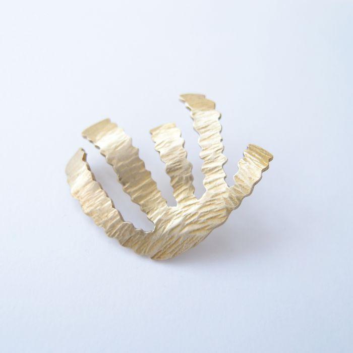 蕨類1 黃銅 胸針