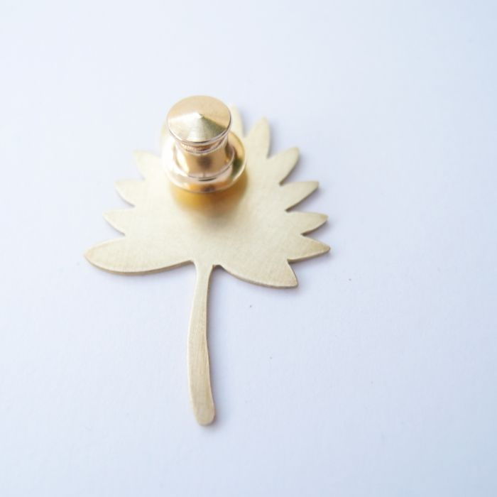 觀葉植物4 黃銅 胸針