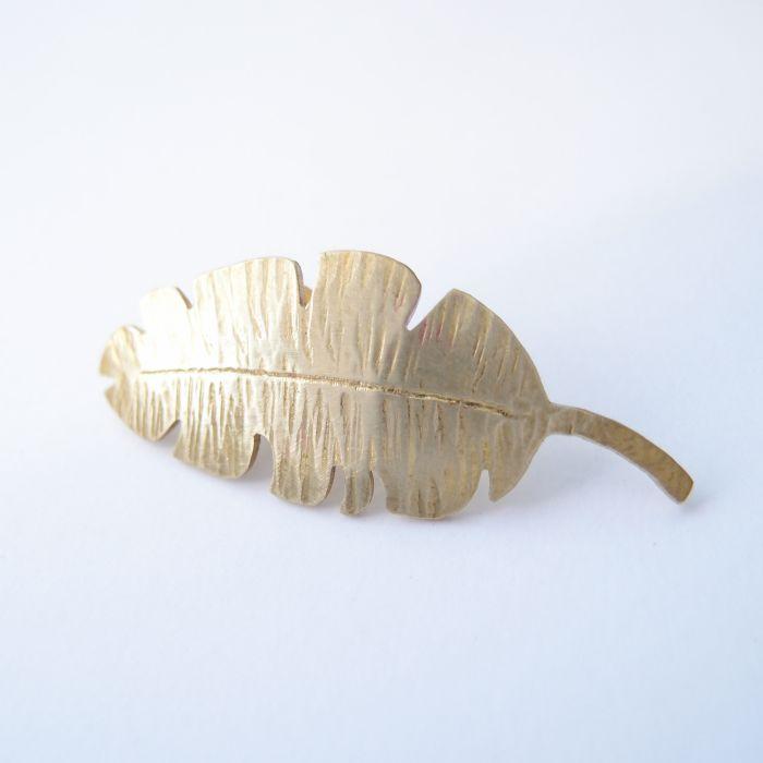 觀葉植物3 黃銅 胸針