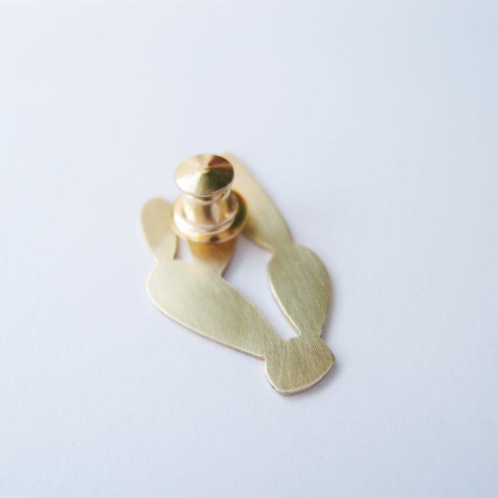 仙人掌2 黃銅 胸針