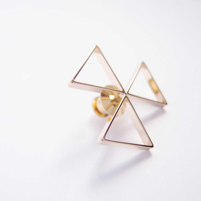 三角平衡金屬胸針