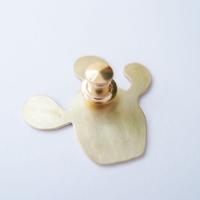 仙人掌1 黃銅 胸針