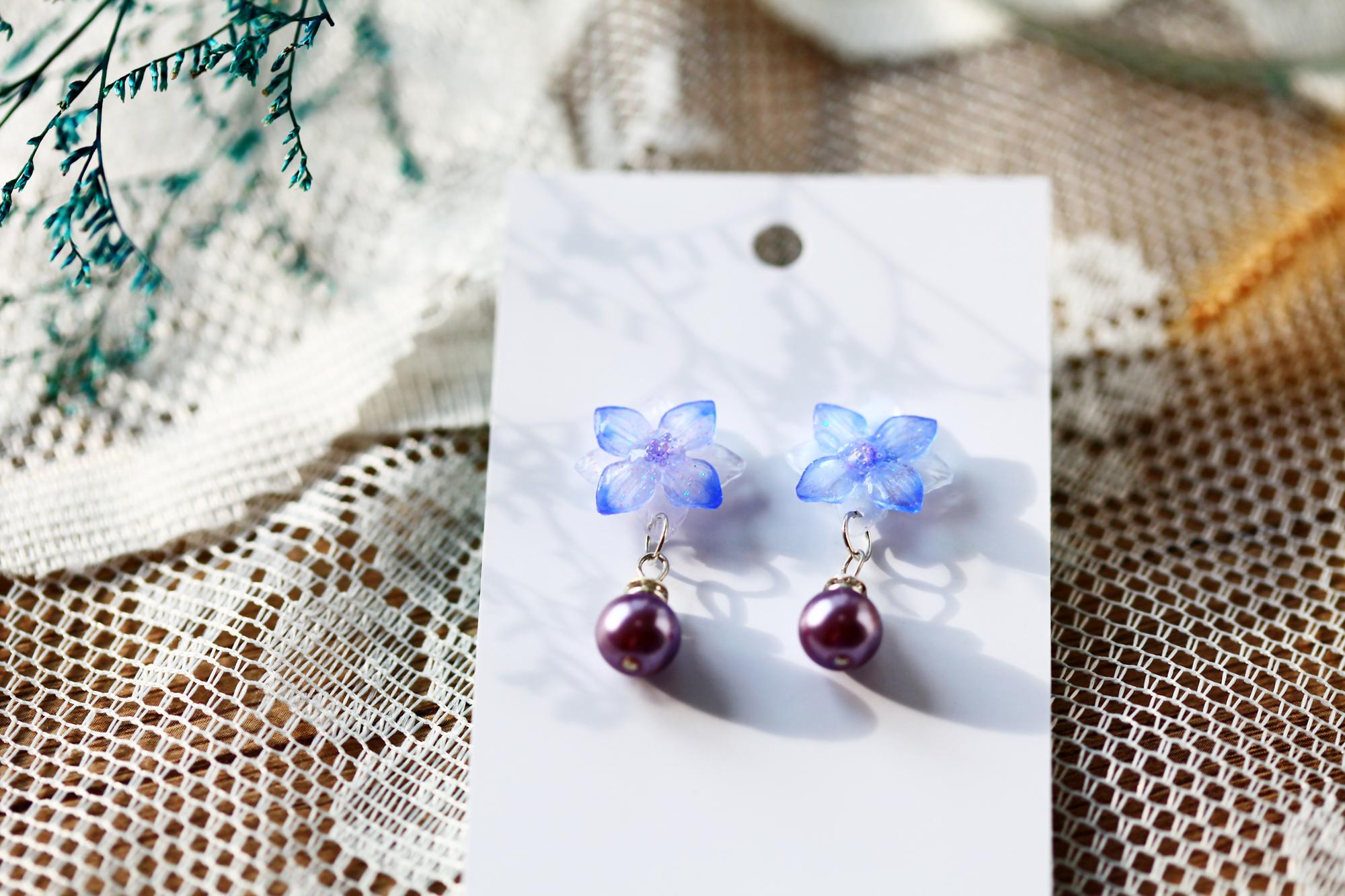 午後的優雅小紫花(耳環-限量定制)