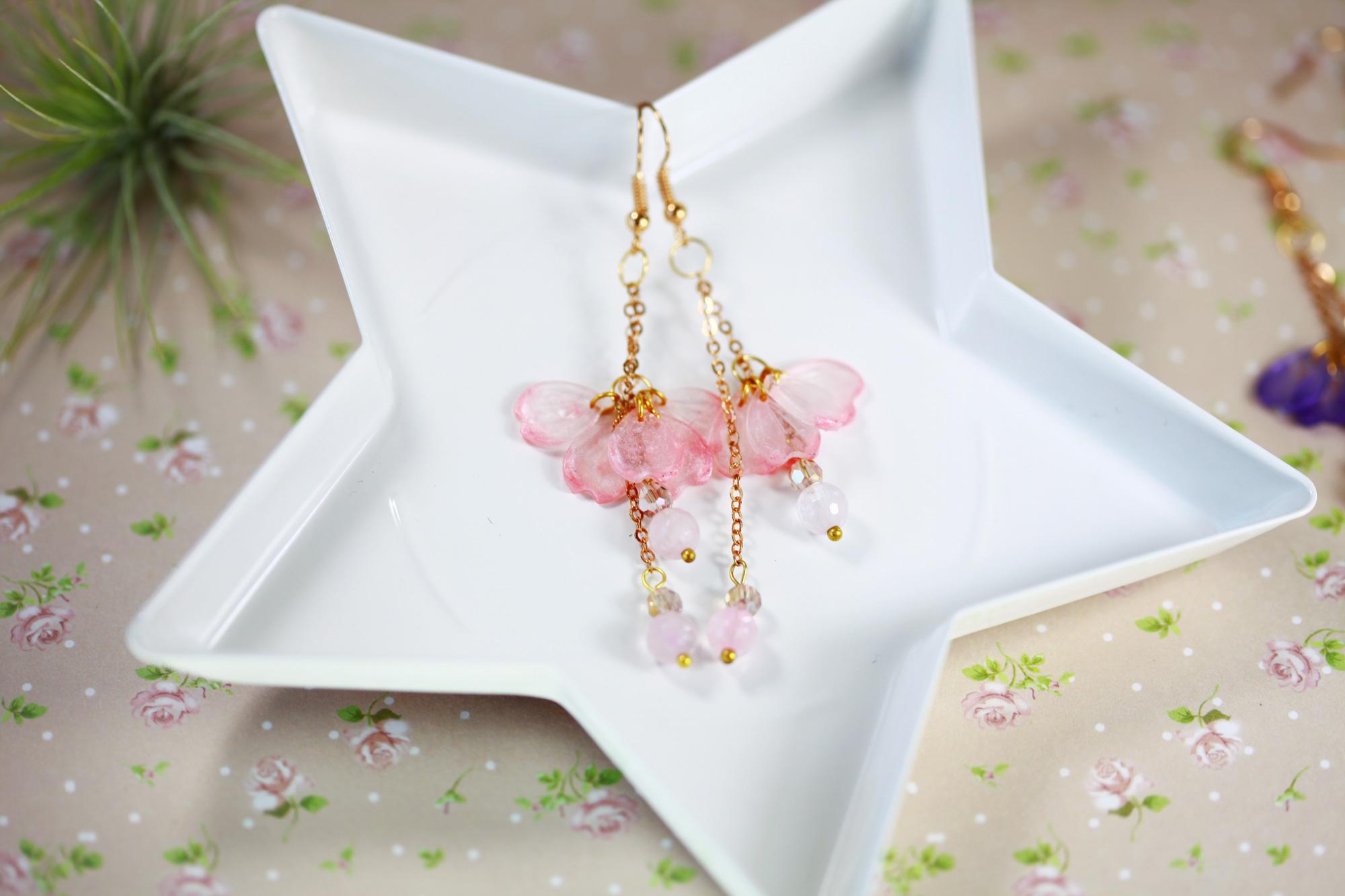 櫻花舞動-櫻花粉(耳環-限量定制)