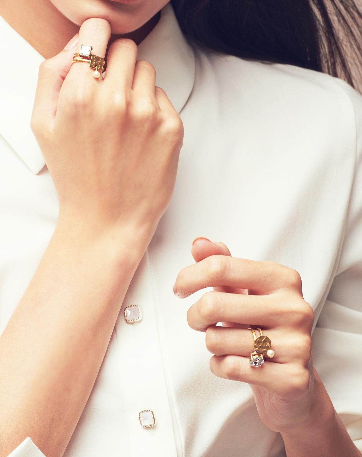 迷幻光影方鑽戒指