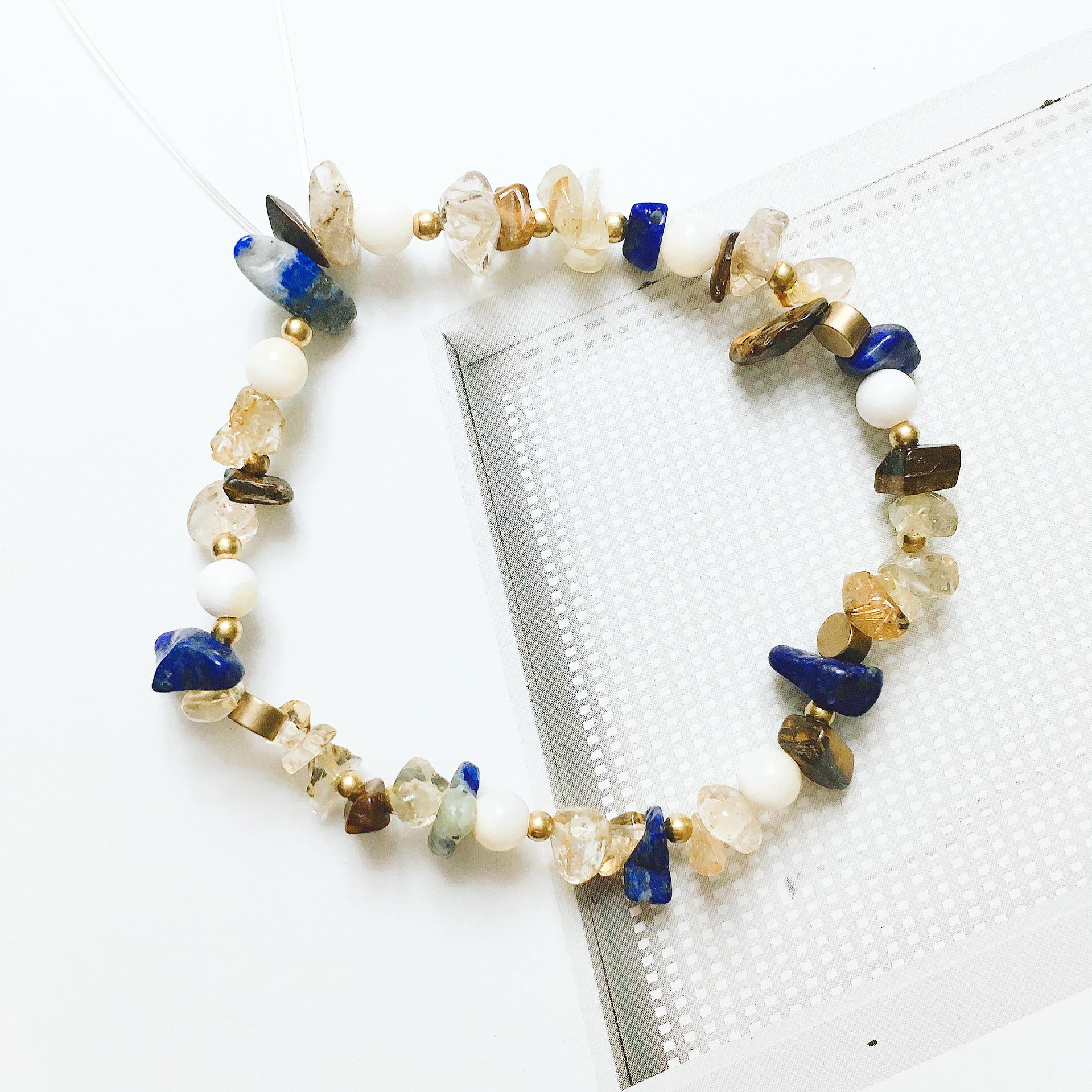 貝兒 礦石花圈手環 公主系列