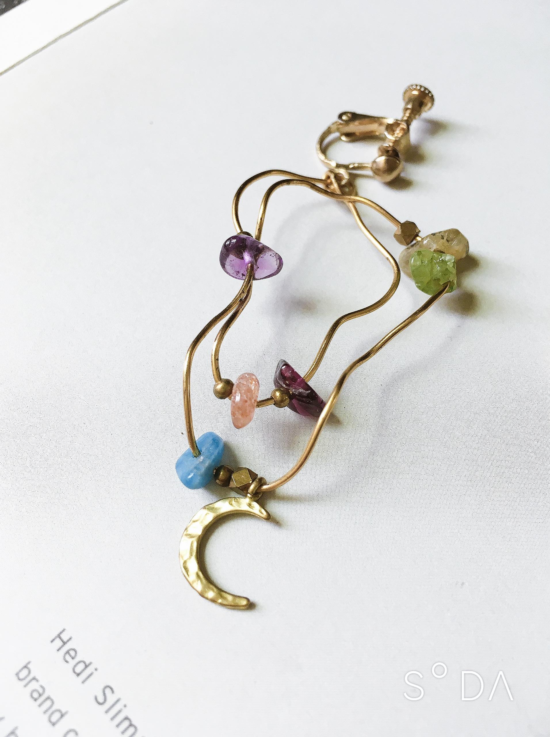 塗鴉 彩虹驕傲 恣意曲線耳環