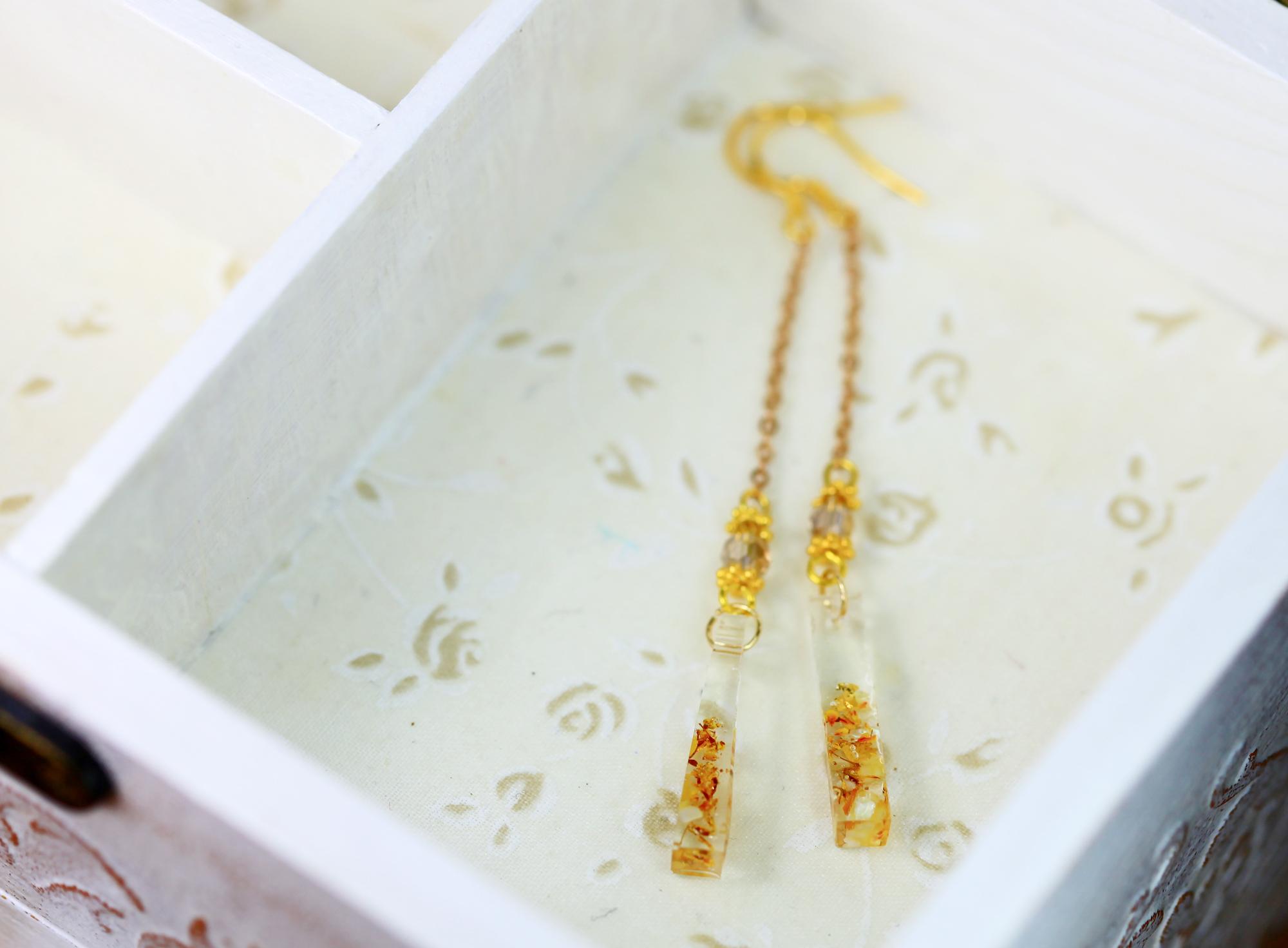 水漾永生花-亮金黃