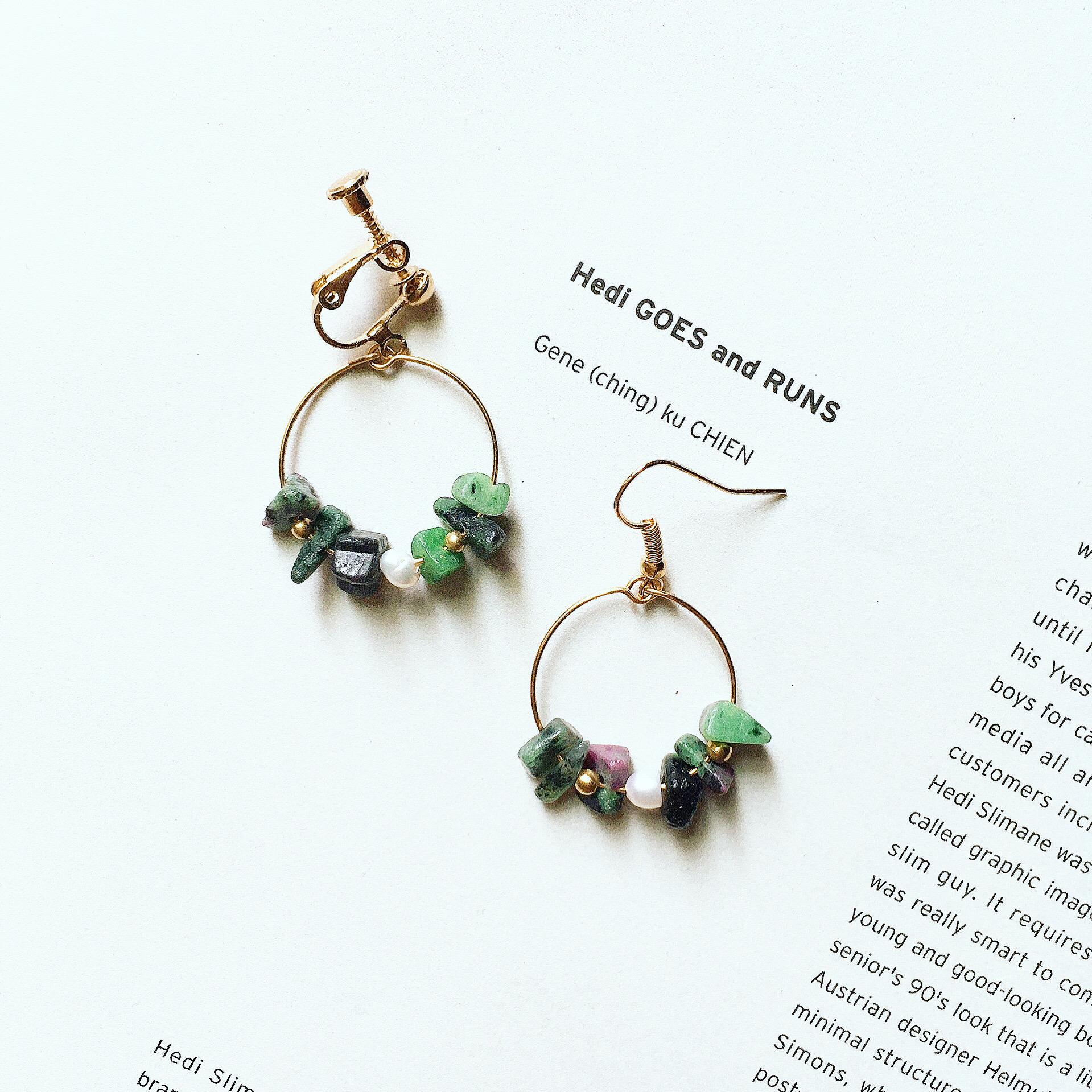 +聖誕交換禮物+聖誕小花圈耳環