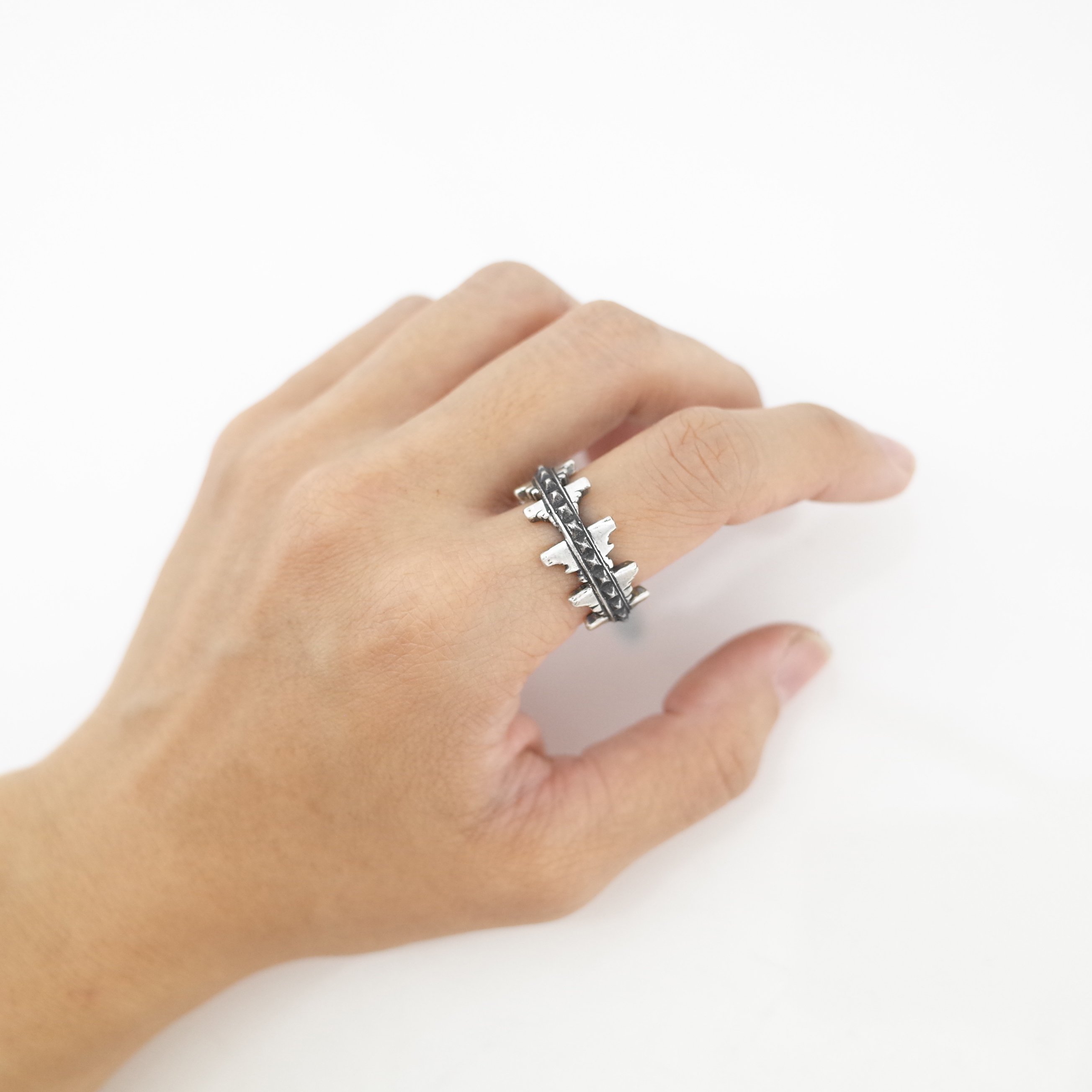 吶喊聲波戒指 925純銀