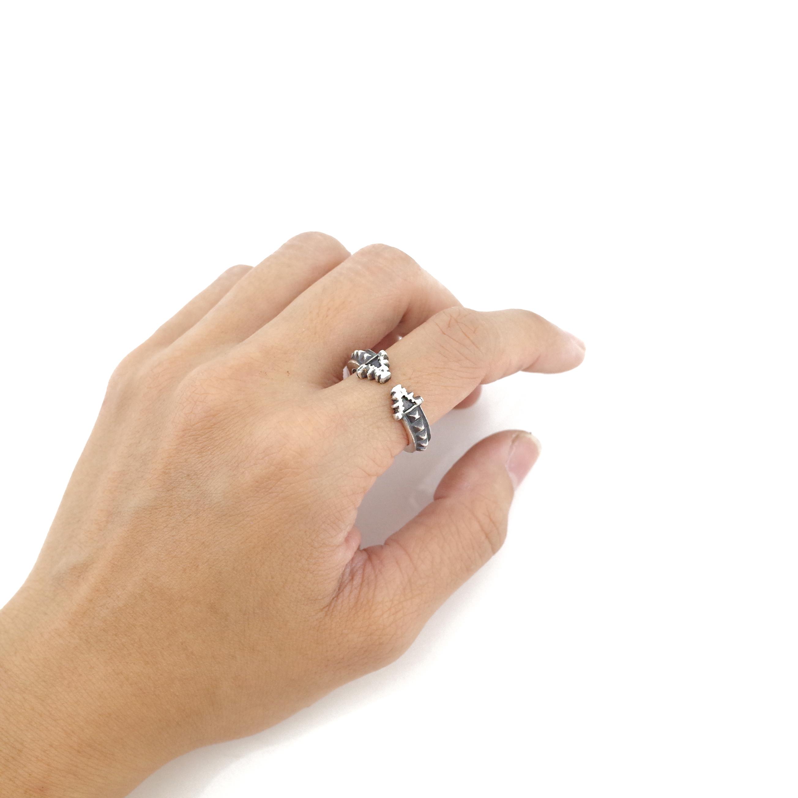 親密愛人聲波戒指 925純銀
