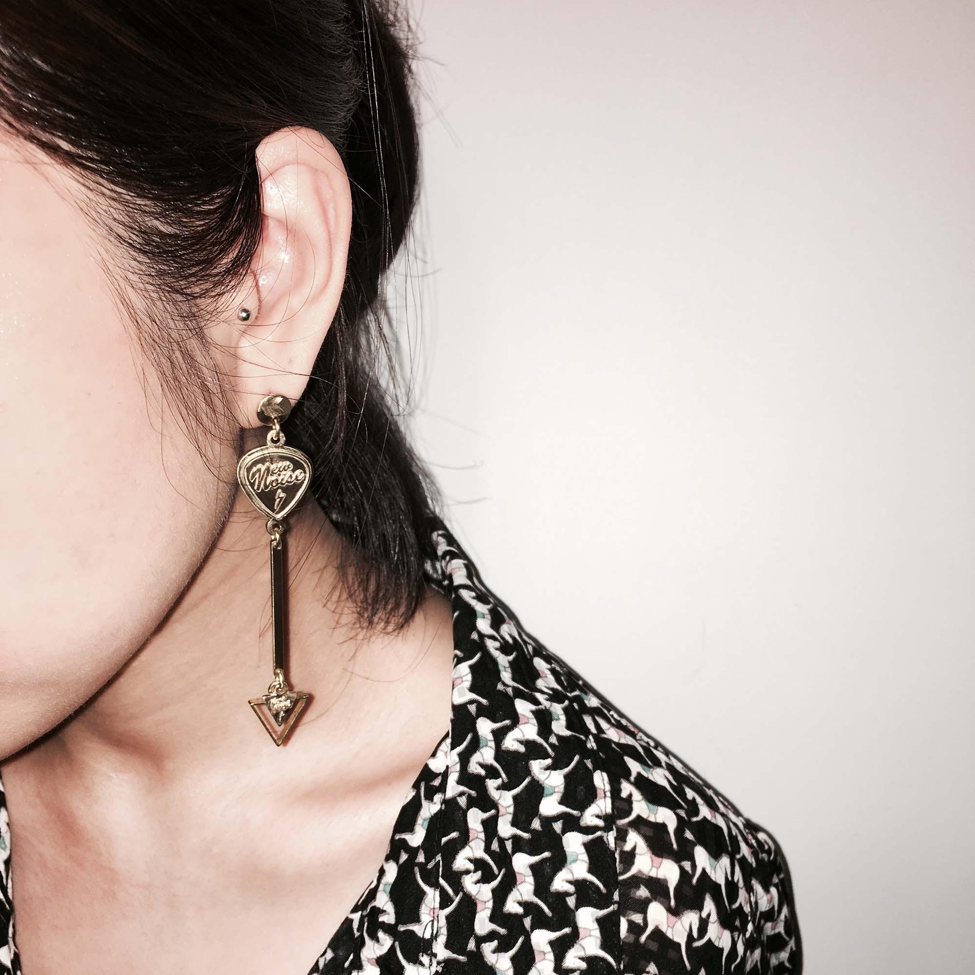 NEW NOISE 音樂飾品實驗所-連結耳環