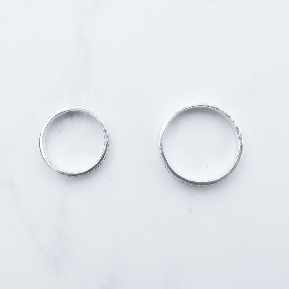 【手工銀飾 客製/DIY】木紋 純銀男戒