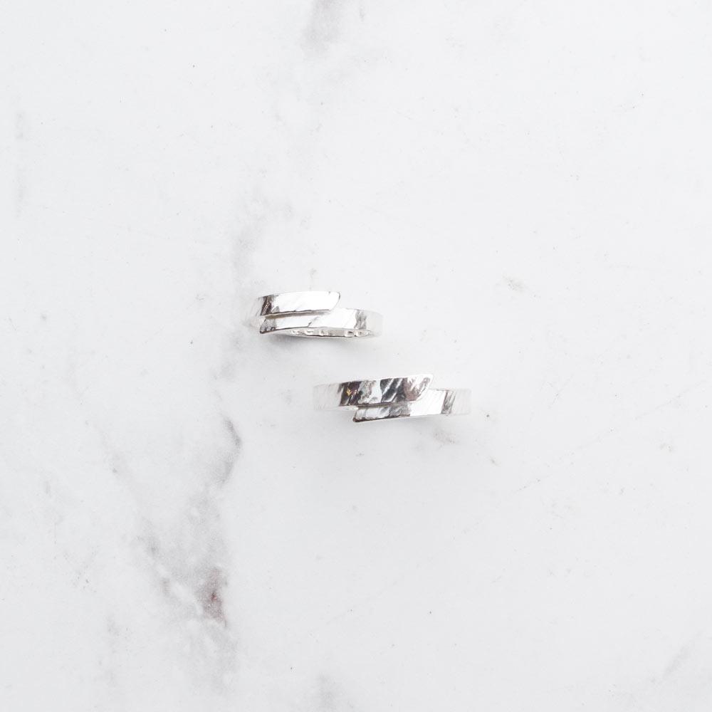 【手工銀飾 客製/DIY】簡單愛×搥紋×純銀女戒